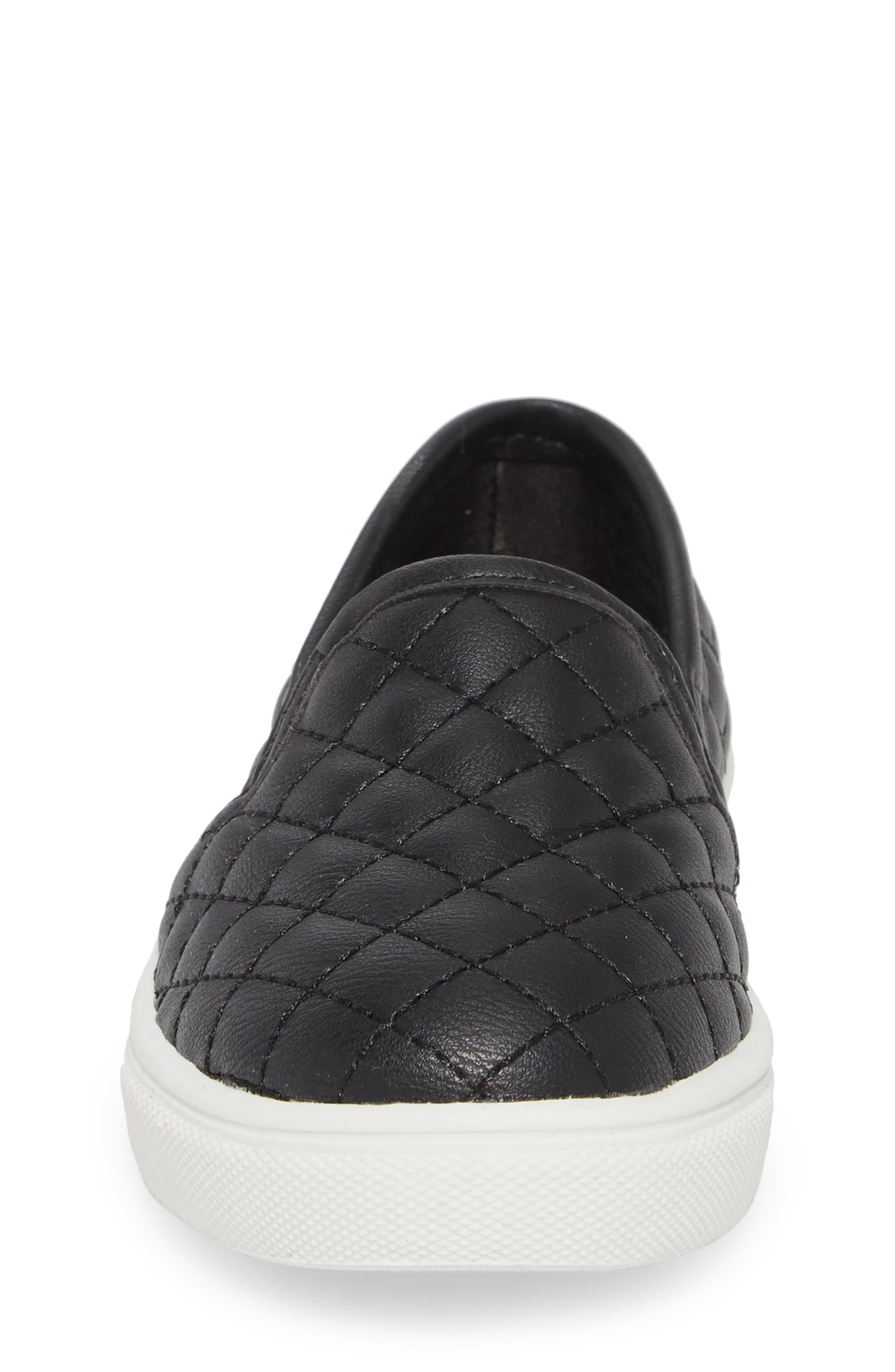 Tecntrc Quilted Slip-On Sneaker,                             Alternate thumbnail 4, color,                             Black