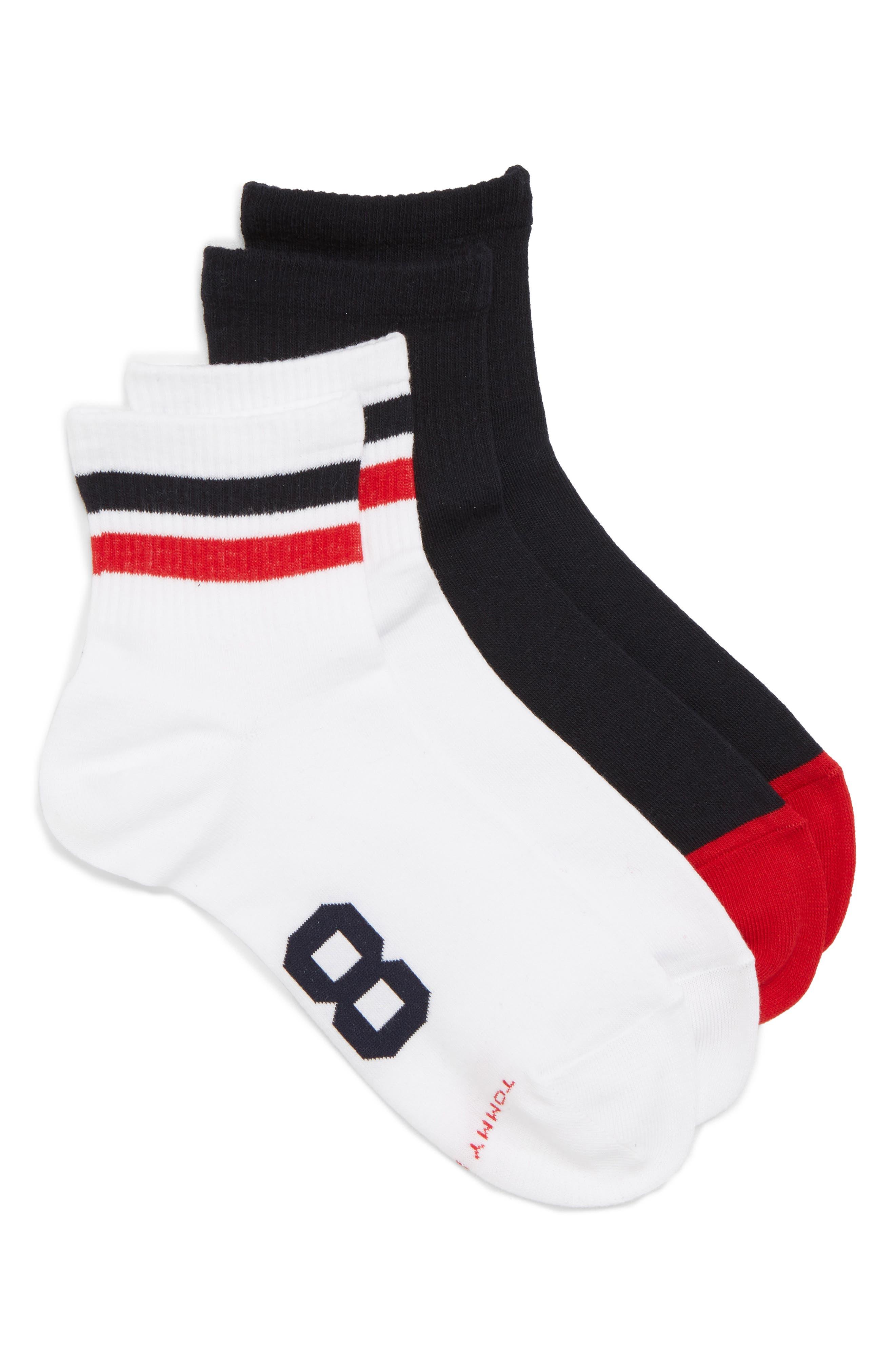 2-Pack Logo '85 Ankle Socks,                             Main thumbnail 1, color,                             White