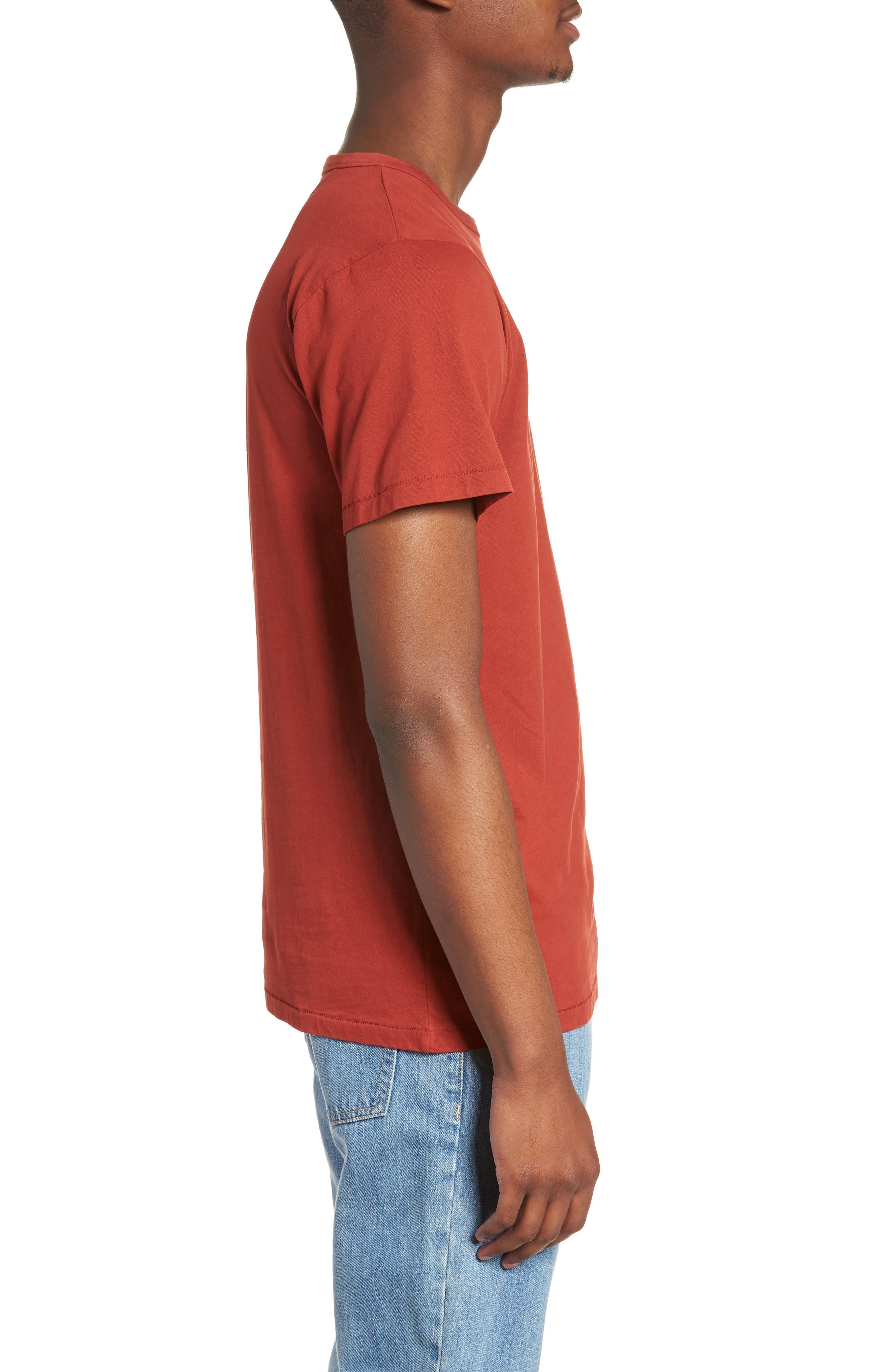 Brandon Pima T-Shirt,                             Alternate thumbnail 3, color,                             Brick