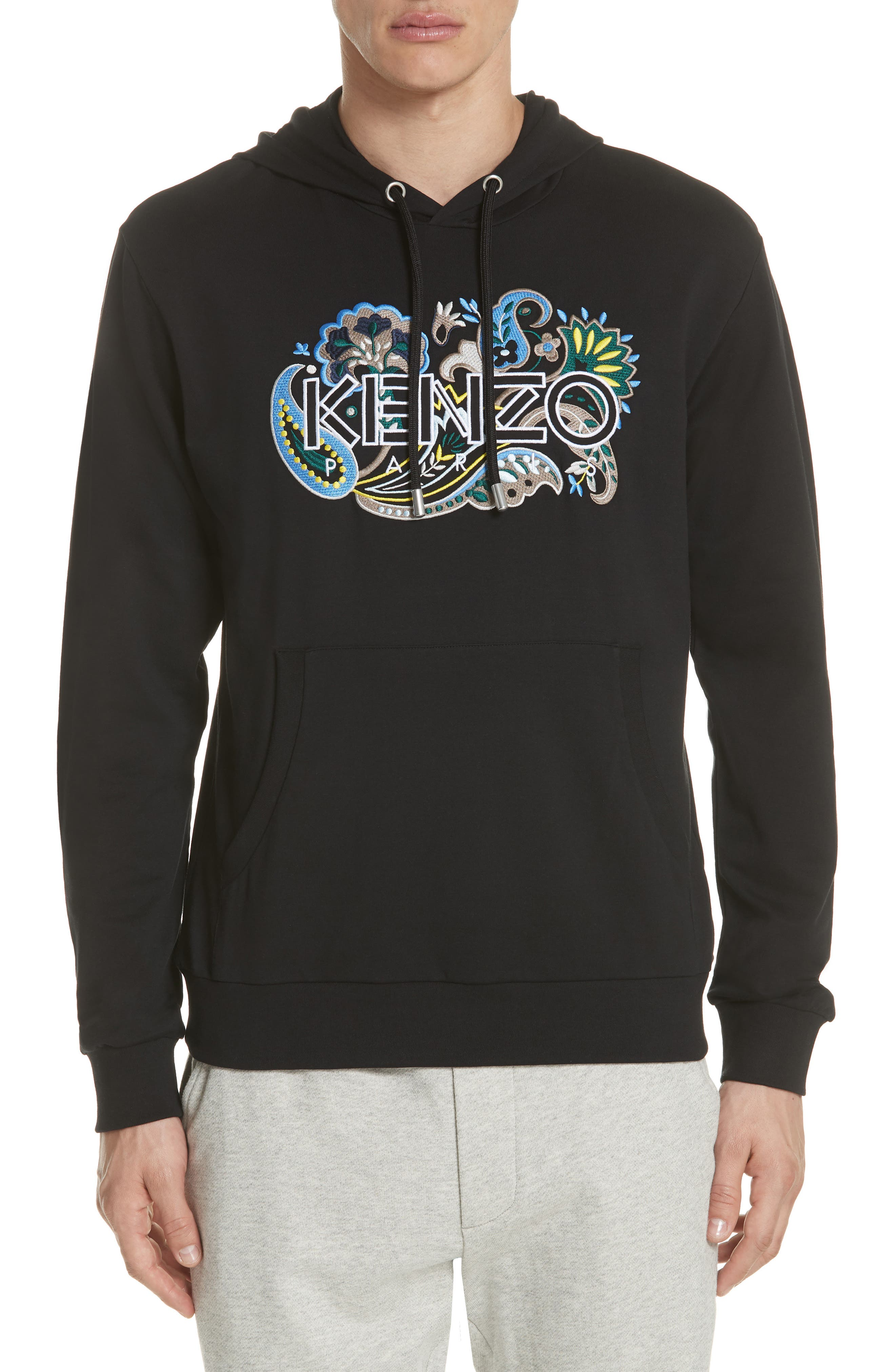 KENZO Floral Embroidered Hoodie