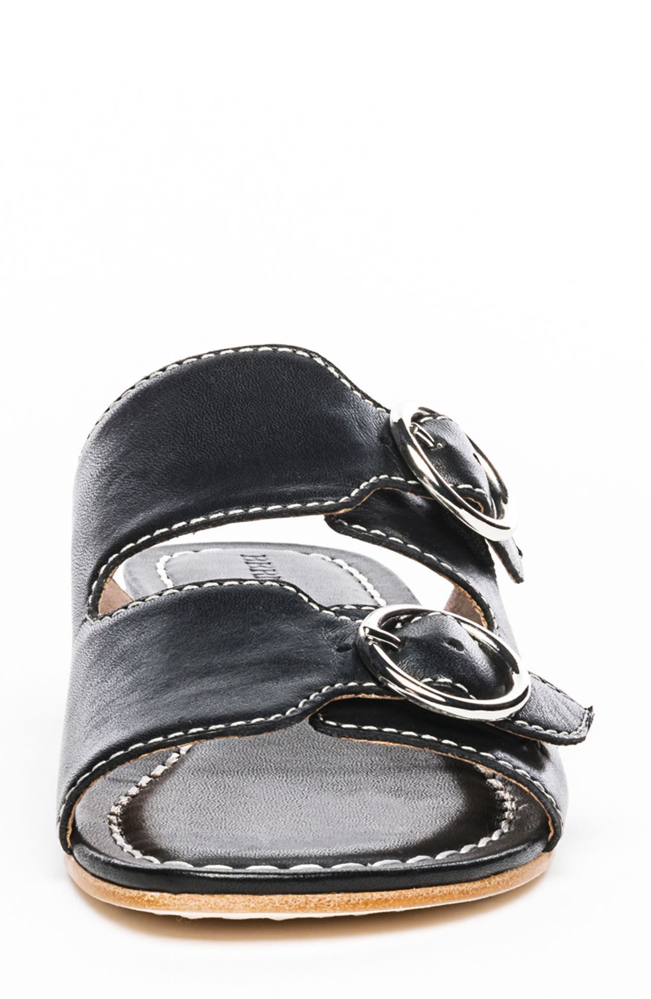 Bernardo Tobi Slide Sandal,                             Alternate thumbnail 4, color,                             Black Leather