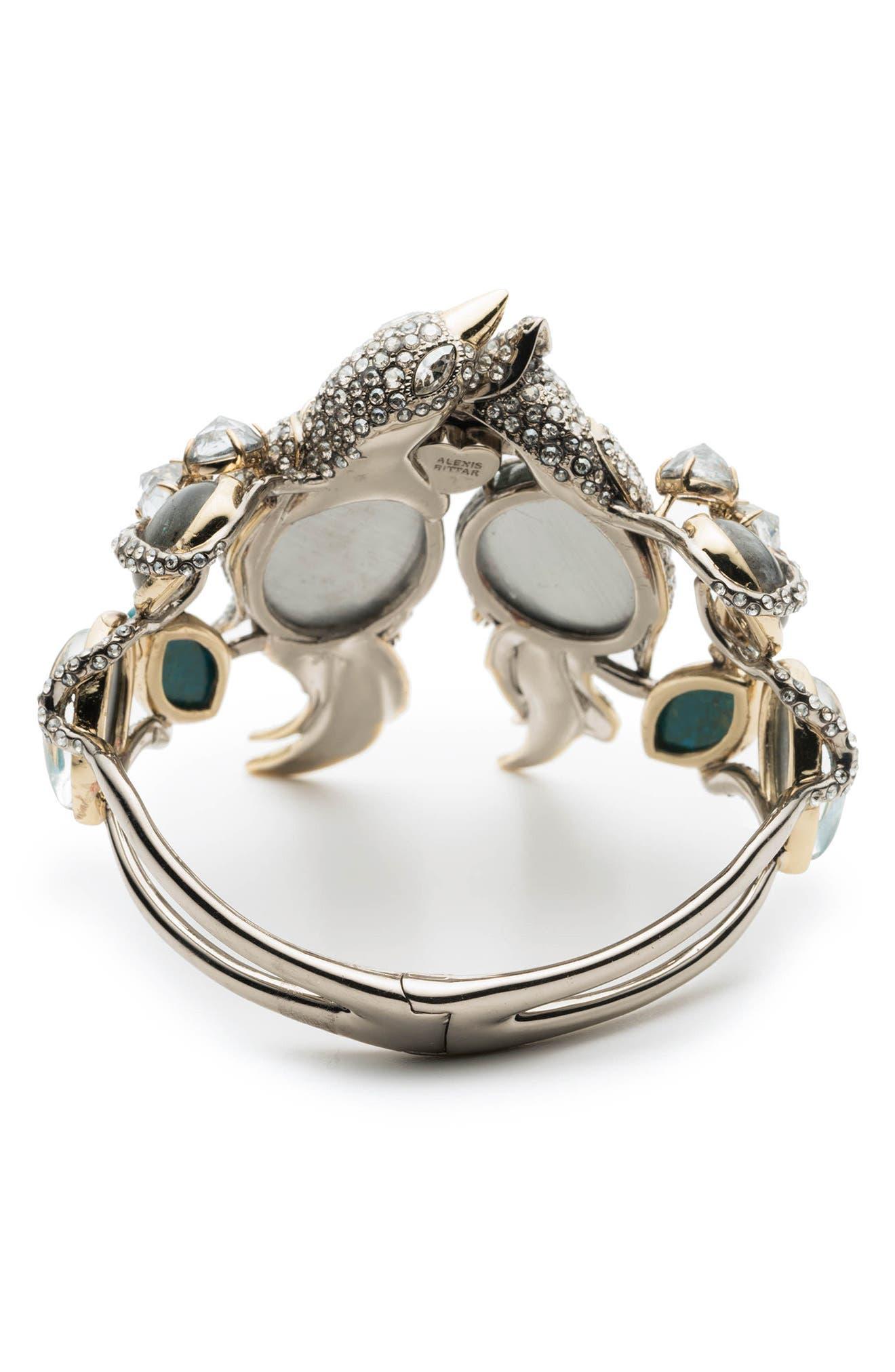 Lovebird Hinge Bracelet,                             Alternate thumbnail 2, color,                             Gold/ Silver