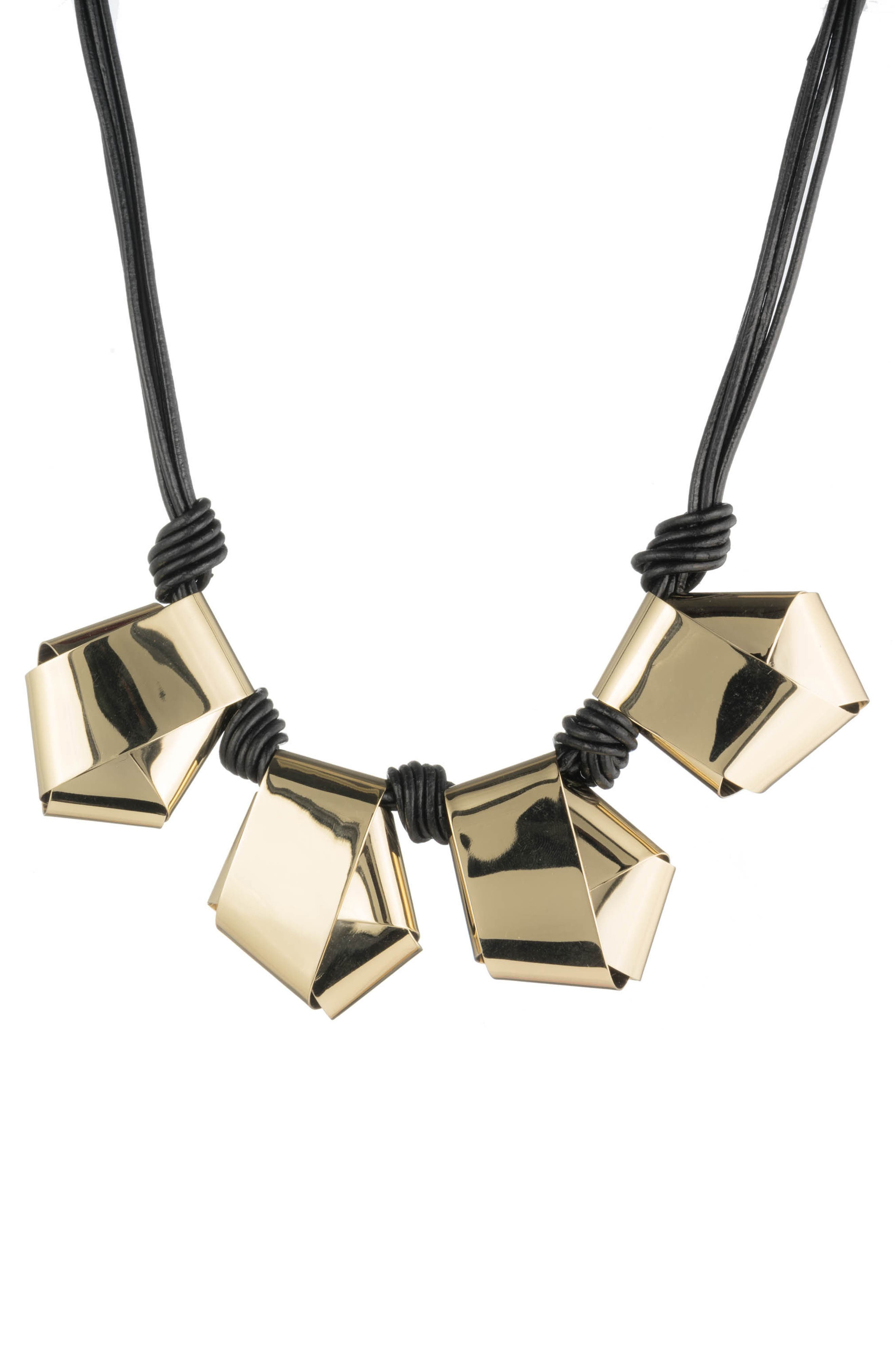Alexis Bittar Folded Metal Knot Necklace