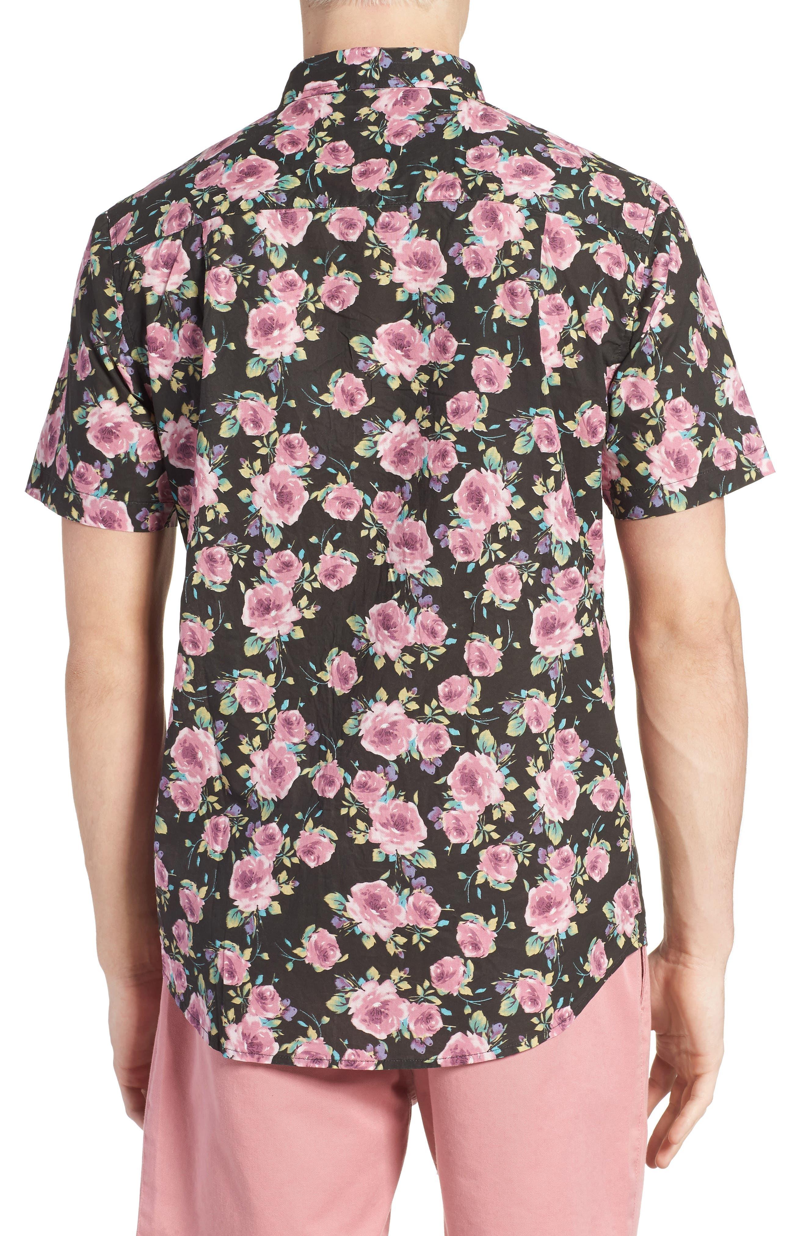 Nueva Woven Shirt,                             Alternate thumbnail 3, color,                             Black