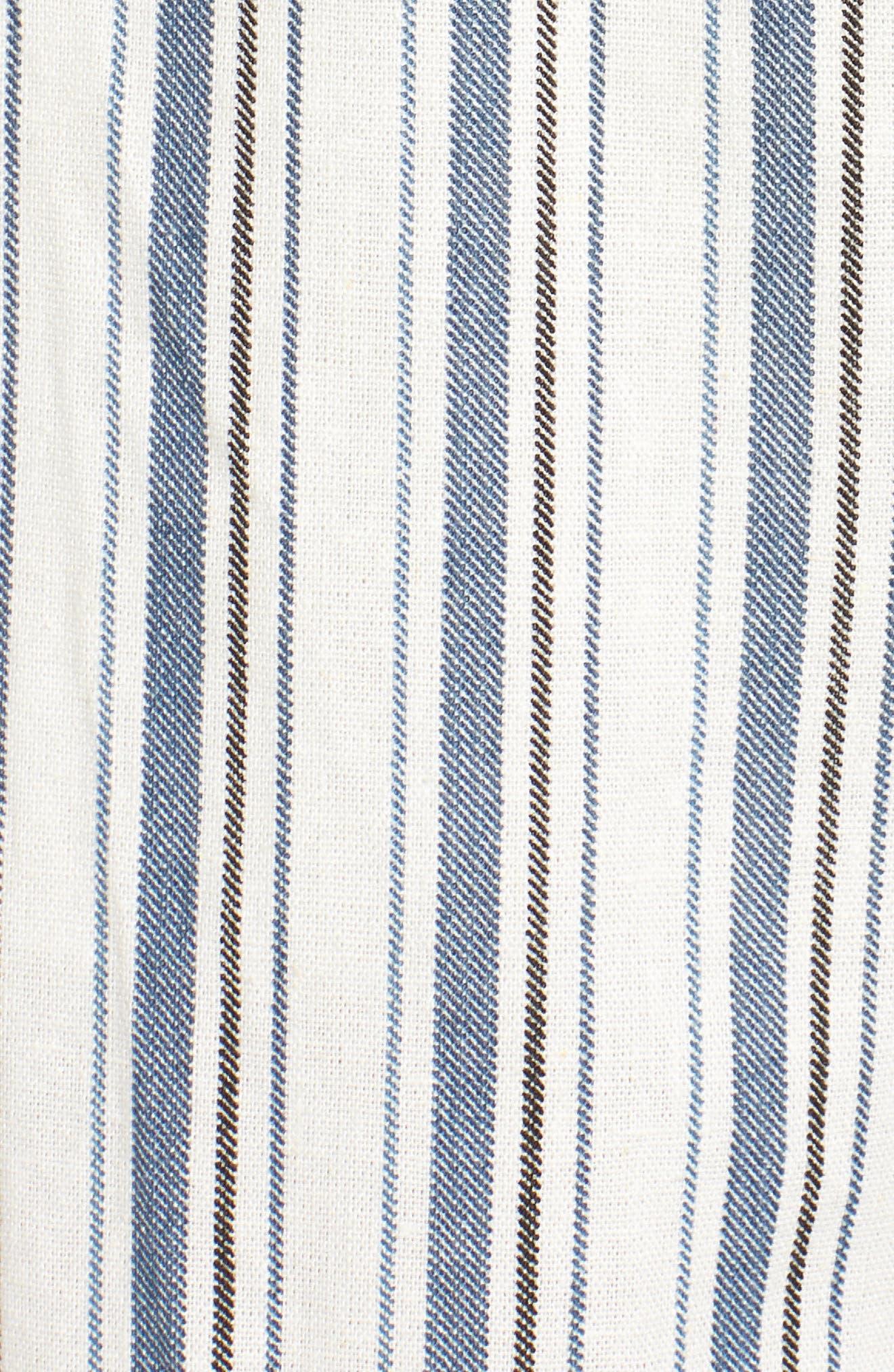 Strapless Crop Jumpsuit,                             Alternate thumbnail 6, color,                             005 Taupe/ Blue