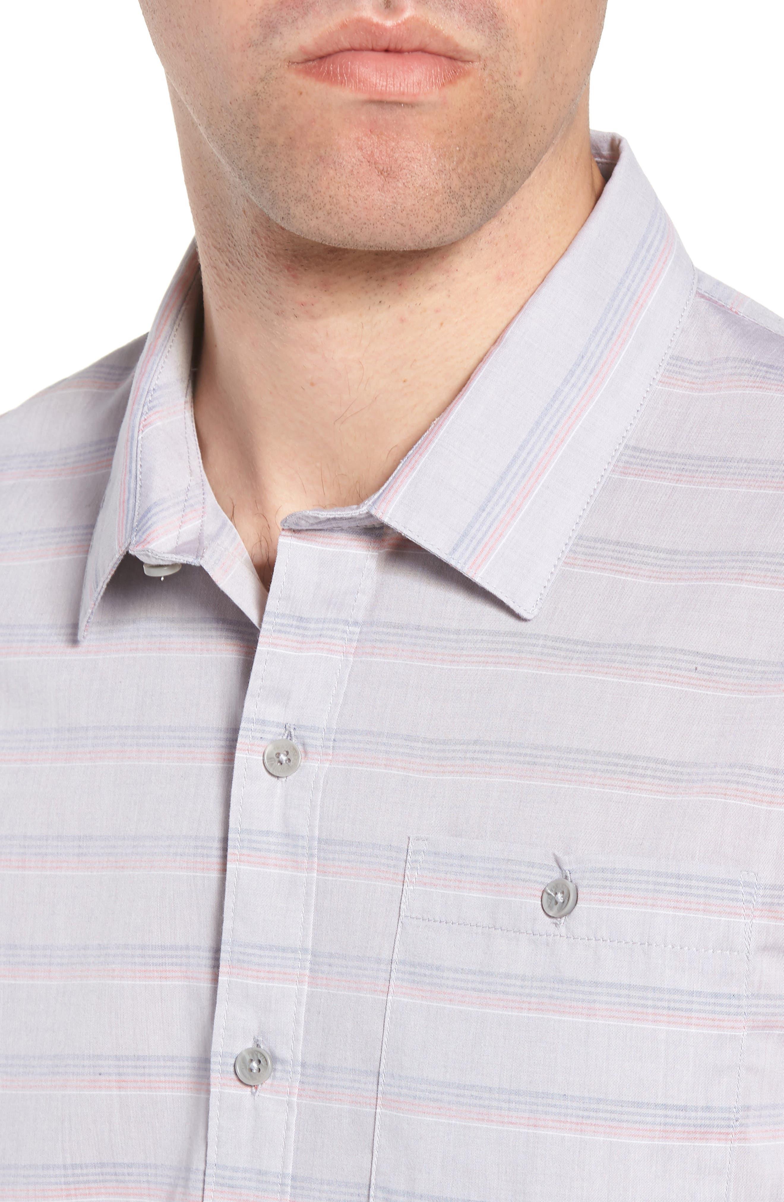 Comet Regular Fit Short Sleeve Sport Shirt,                             Alternate thumbnail 2, color,                             Heather Sharkskin