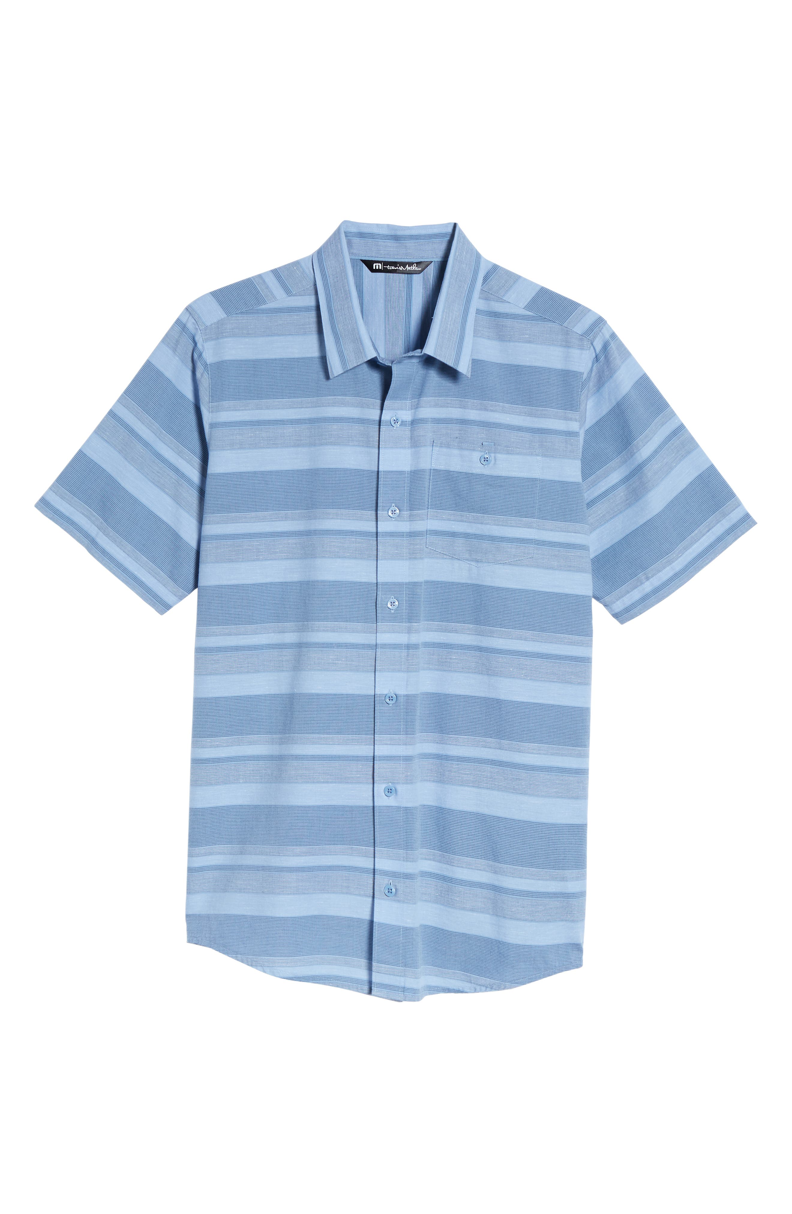 Mahe Regular Fit Sport Shirt,                             Alternate thumbnail 6, color,                             Heather Blue Nights
