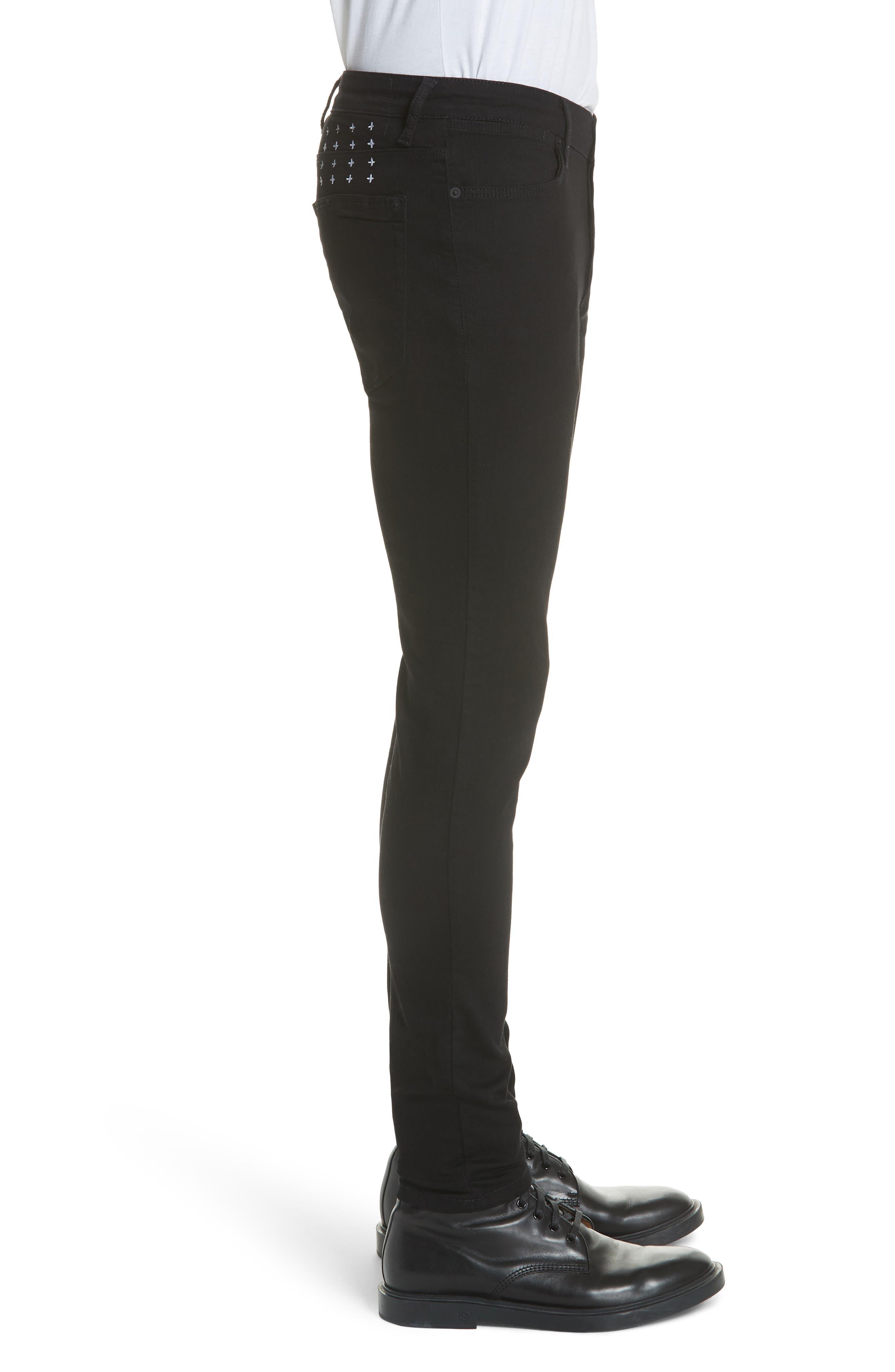 Van Winkle Black Rebel Skinny Fit Jeans,                             Alternate thumbnail 2, color,                             Black