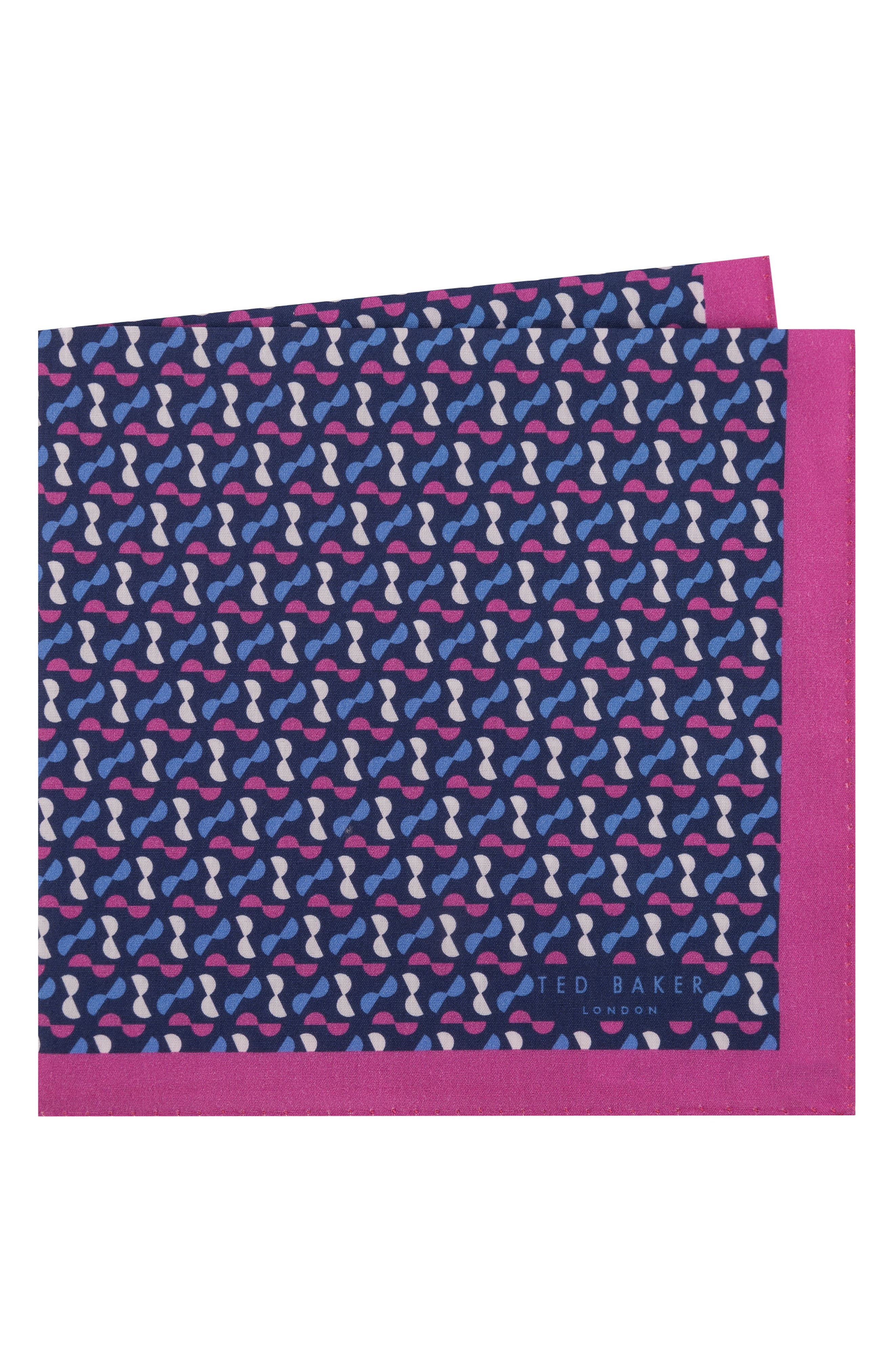 Ted Baker London Geometric Cotton Pocket Square
