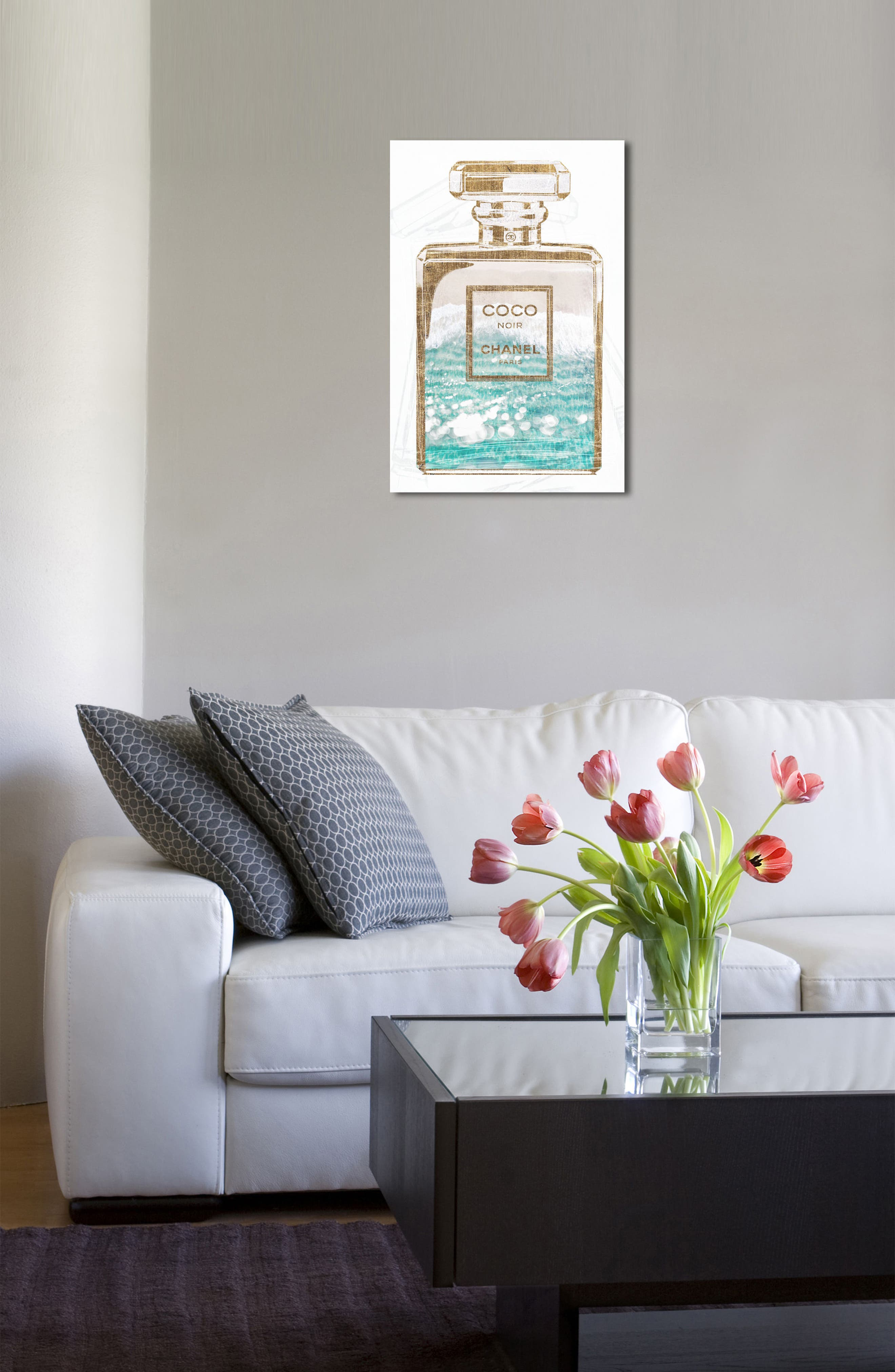 Water Love Canvas Wall Art,                             Alternate thumbnail 3, color,                             Blue