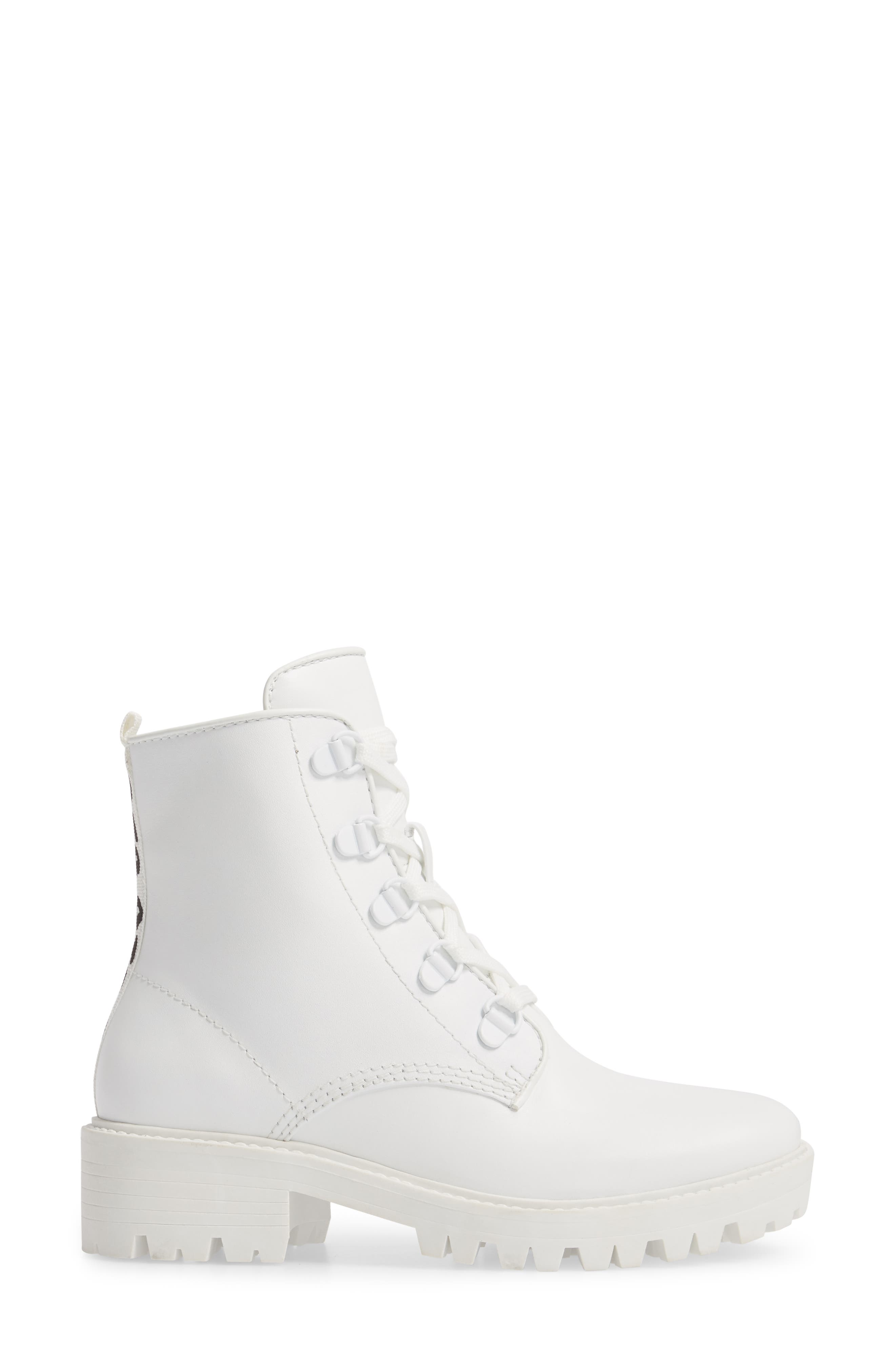 Military Boot,                             Alternate thumbnail 3, color,                             White/ White/ White