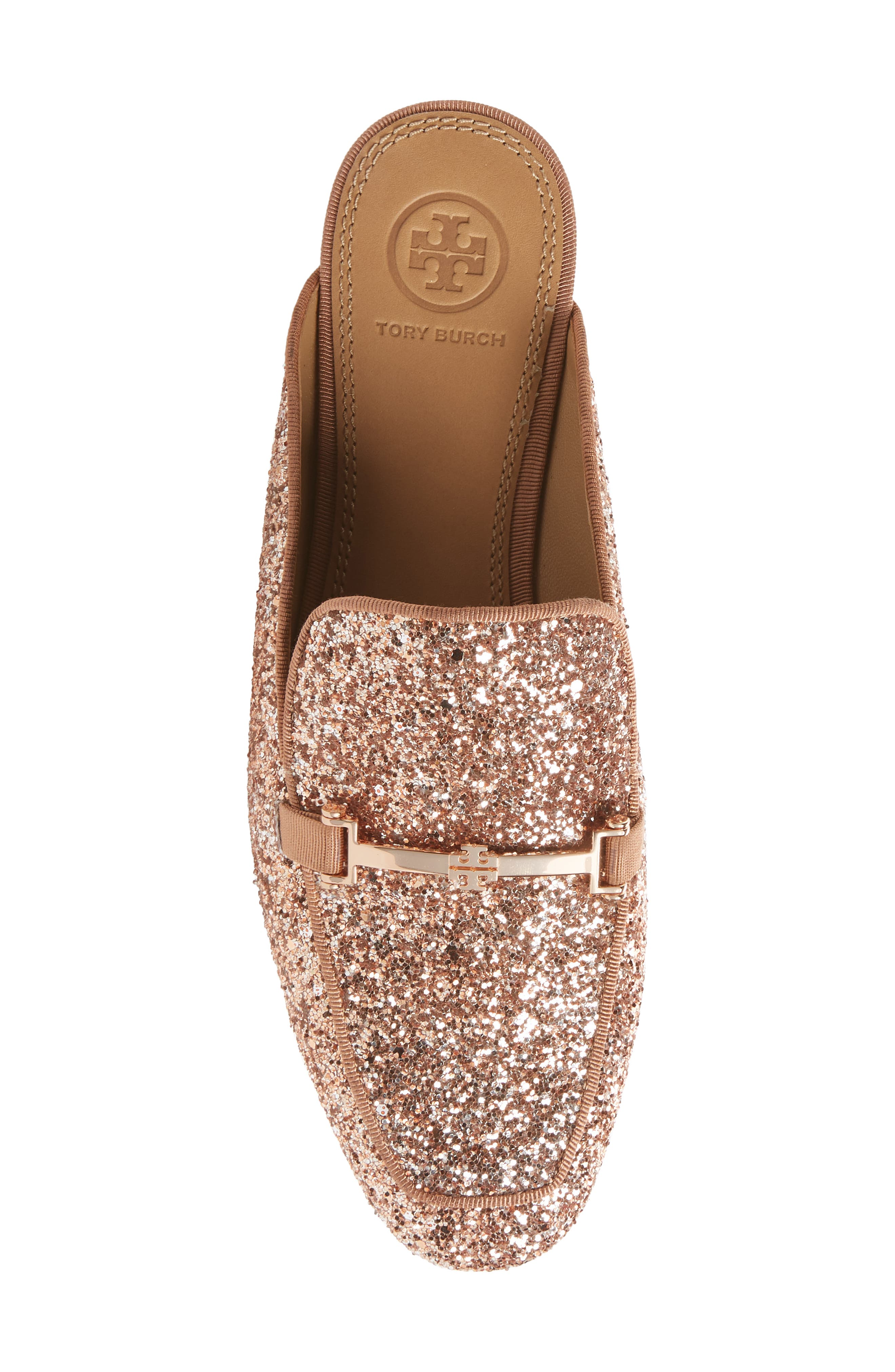 Amelia Loafer Mule,                             Alternate thumbnail 5, color,                             Rose Gold/ Rose Gold