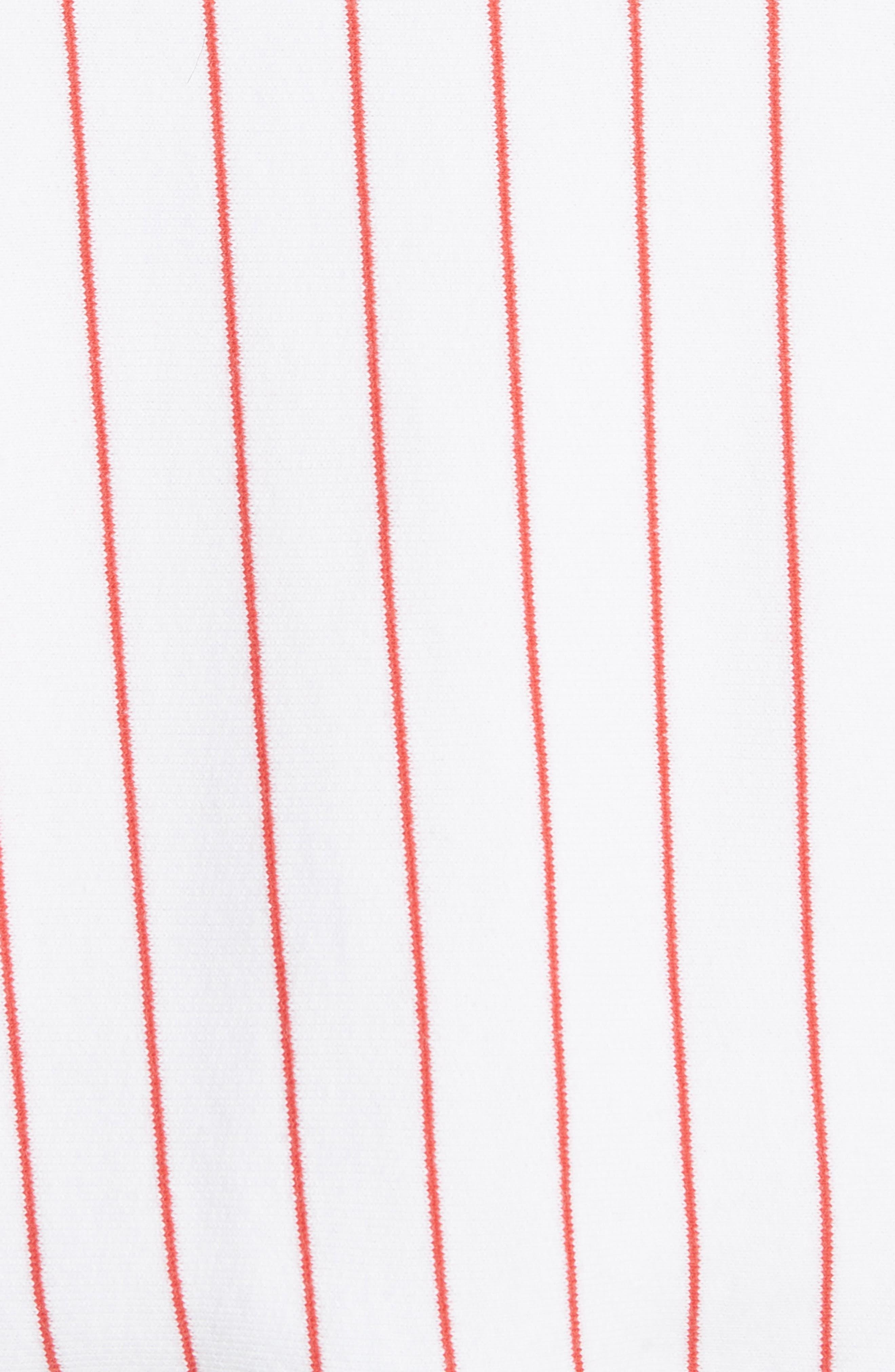 Pinstripe Varsity Jacket,                             Alternate thumbnail 6, color,                             White