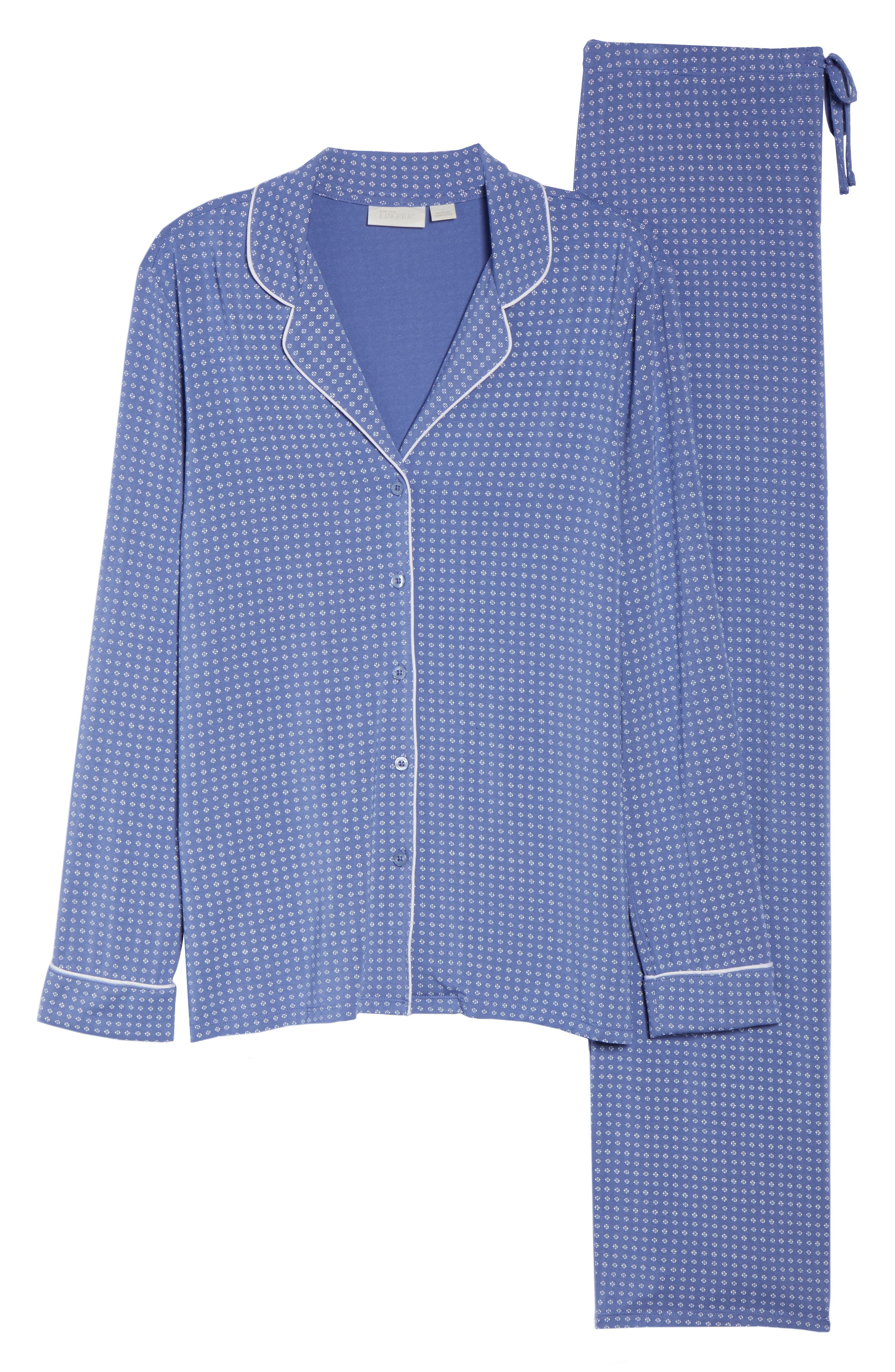 Moonlight Pajamas,                             Alternate thumbnail 6, color,                             Blue Denim Geo