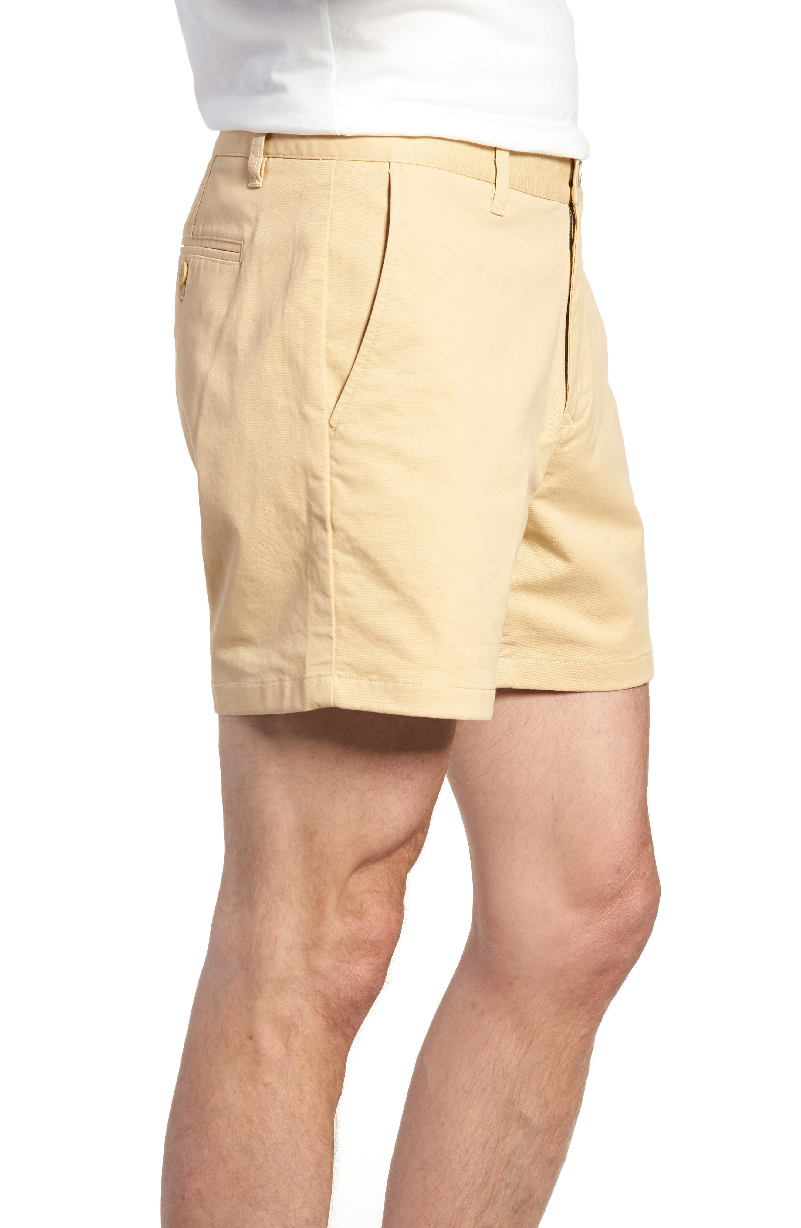 Stretch Washed Chino 5-Inch Shorts,                             Alternate thumbnail 3, color,                             Gold Khaki