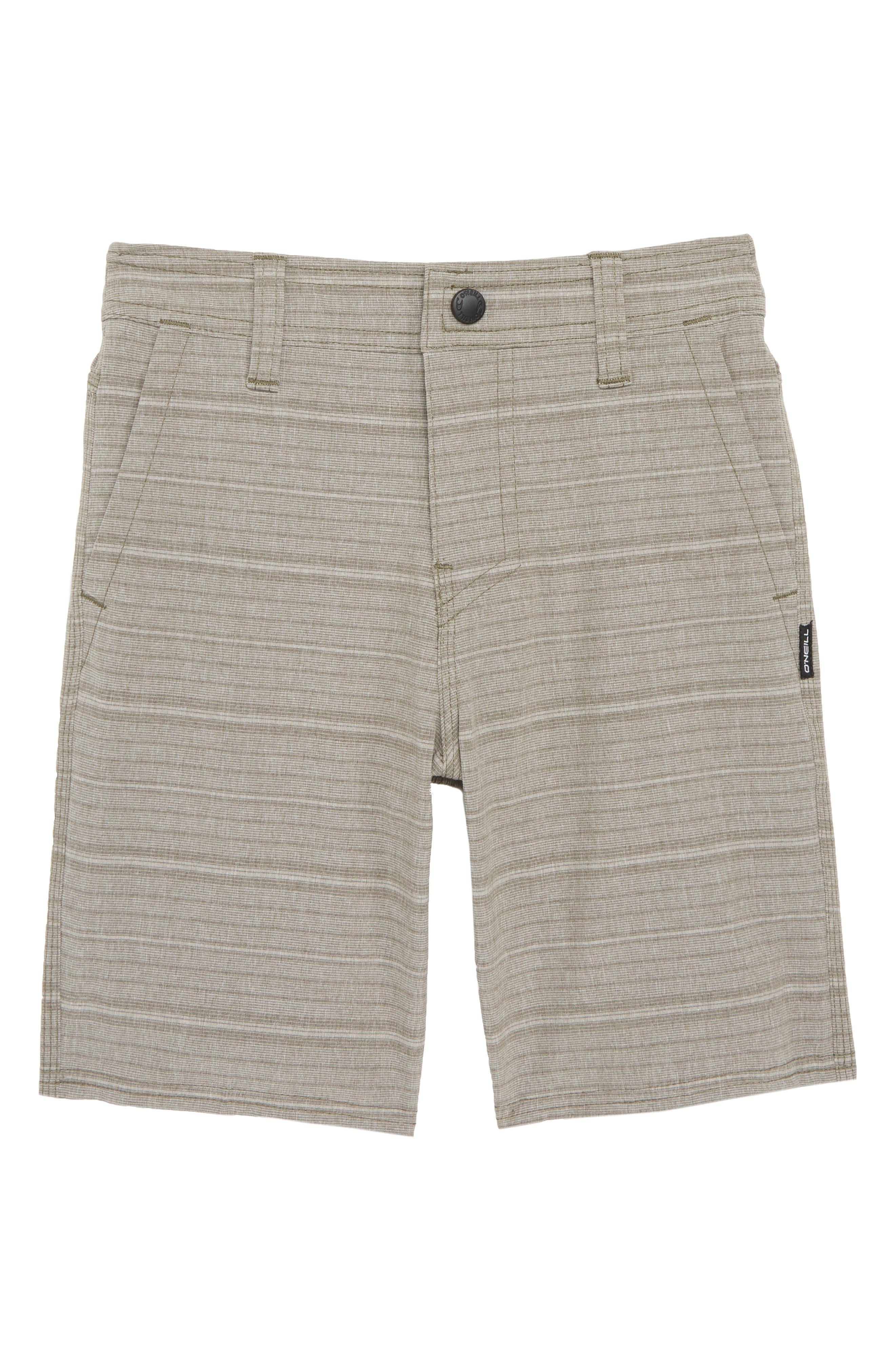 Locked Stripe Hybrid Shorts,                             Main thumbnail 1, color,                             Dark Army