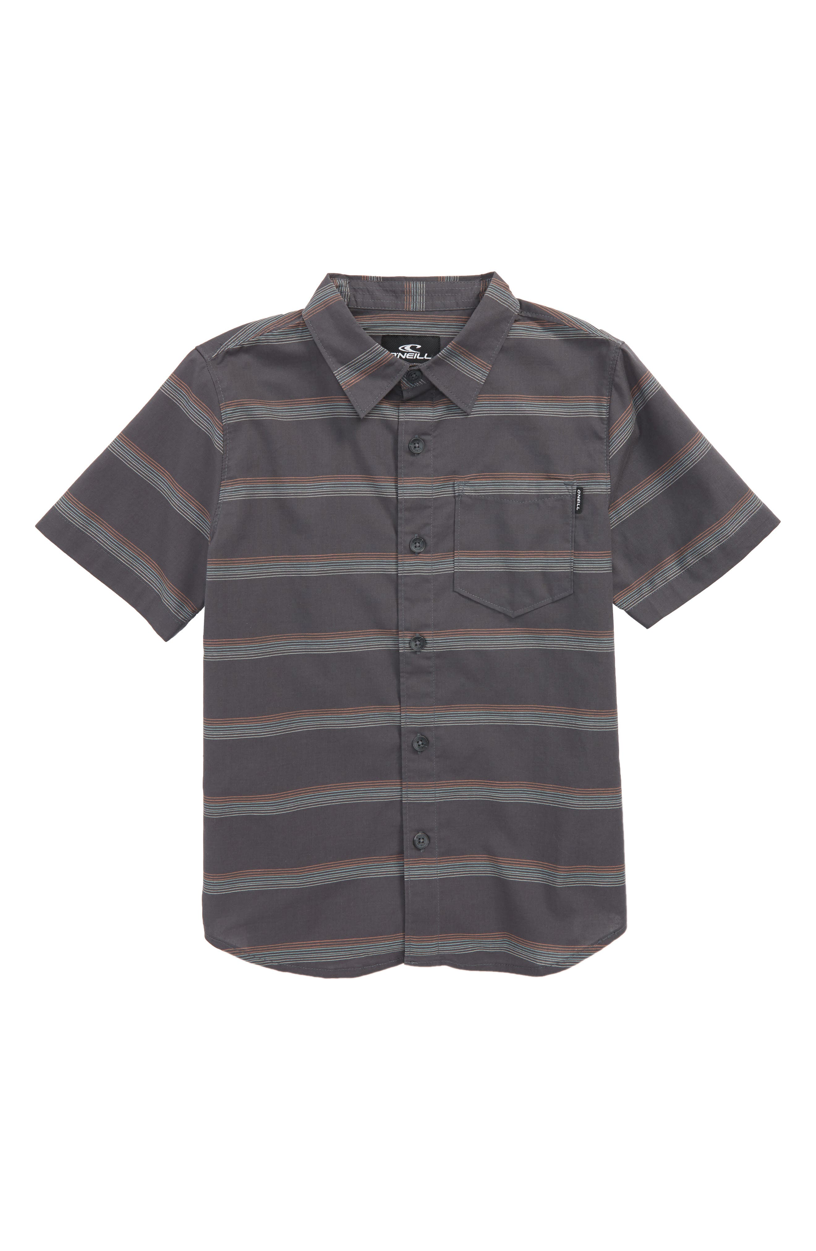 Pickett Woven Shirt,                         Main,                         color, Asphalt