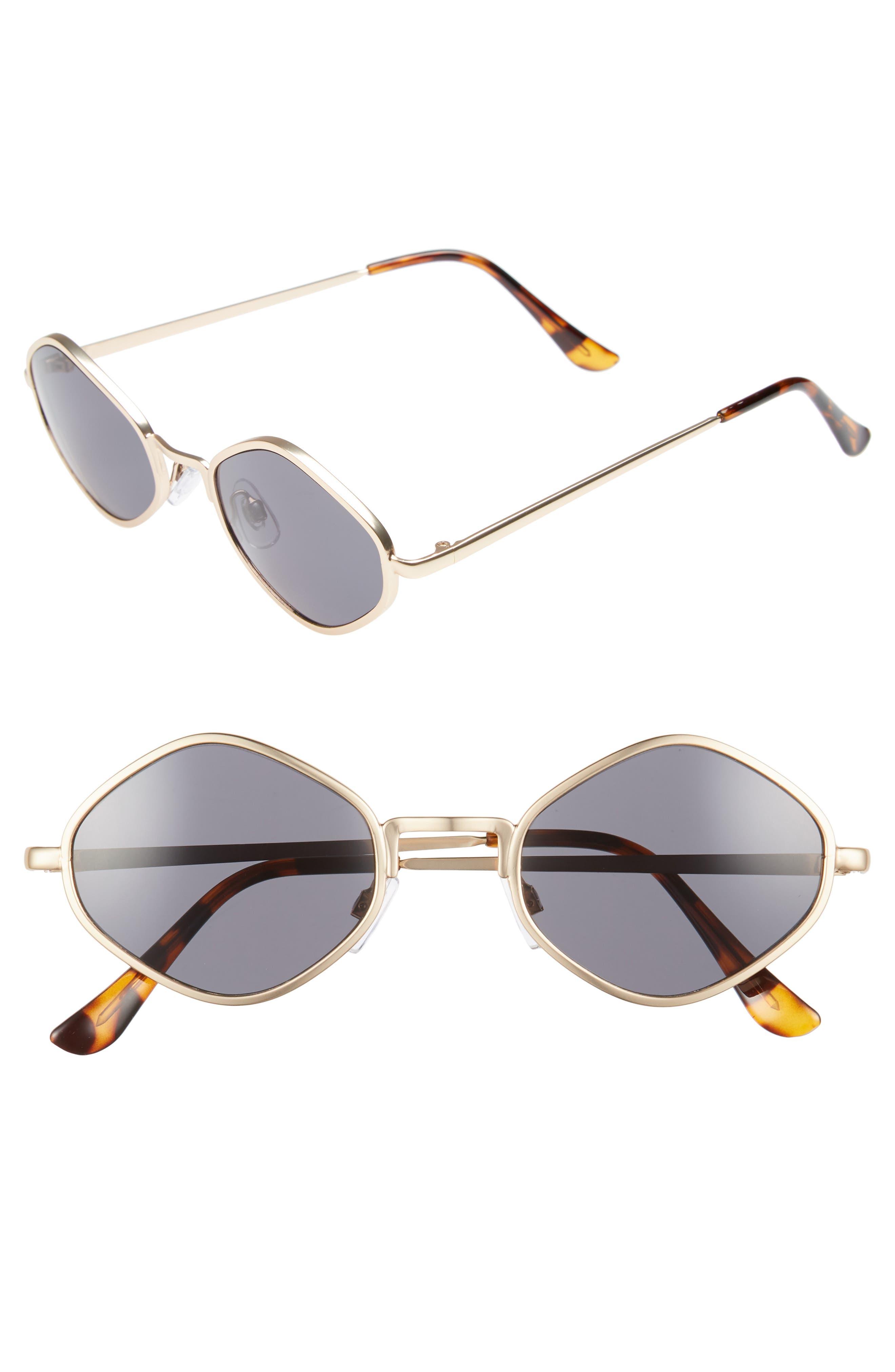 Geo Metal Sunglasses,                             Main thumbnail 1, color,                             Gold/ Tort