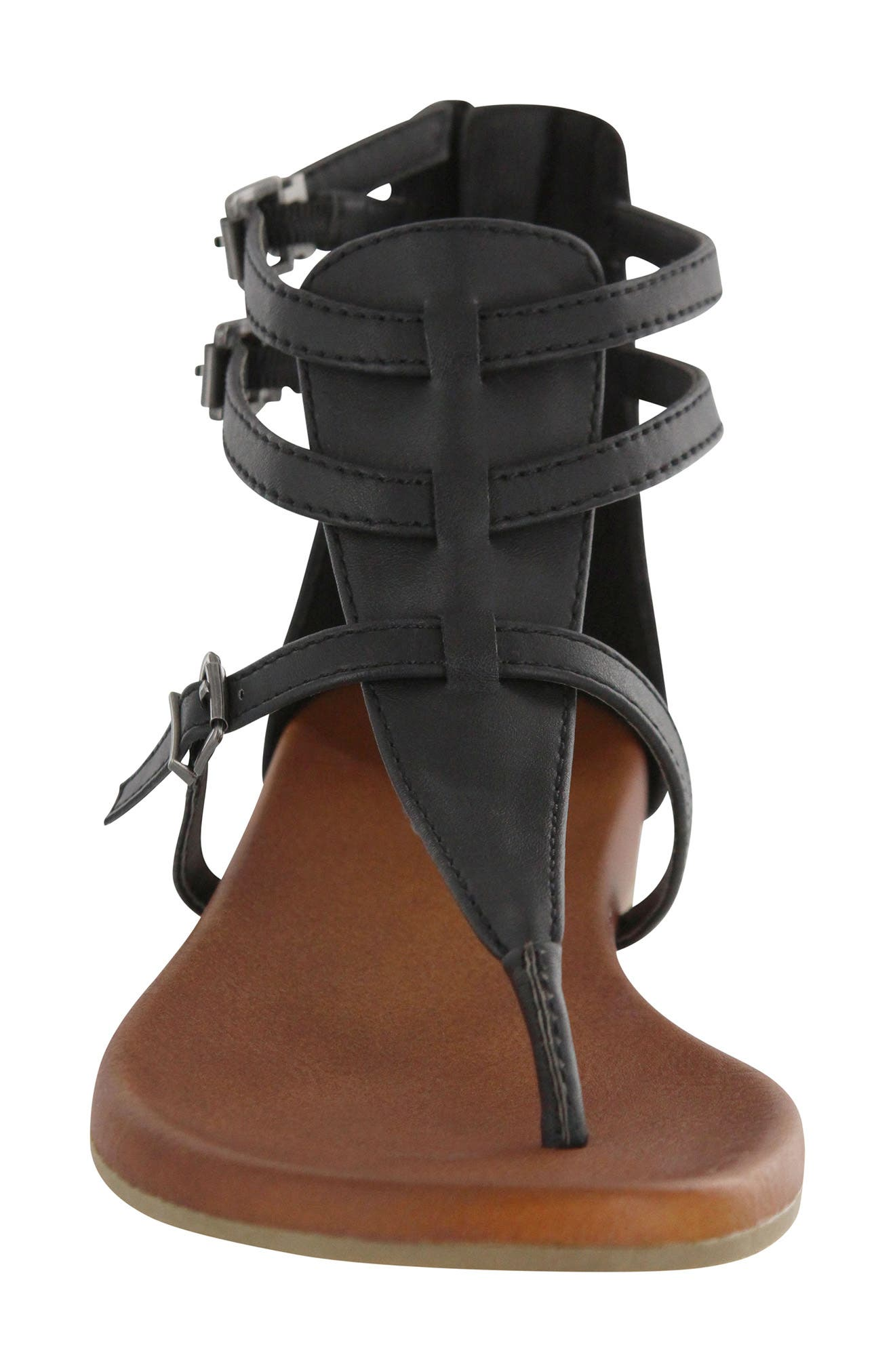 Dashiell V-Strap Sandal,                             Alternate thumbnail 4, color,                             Black