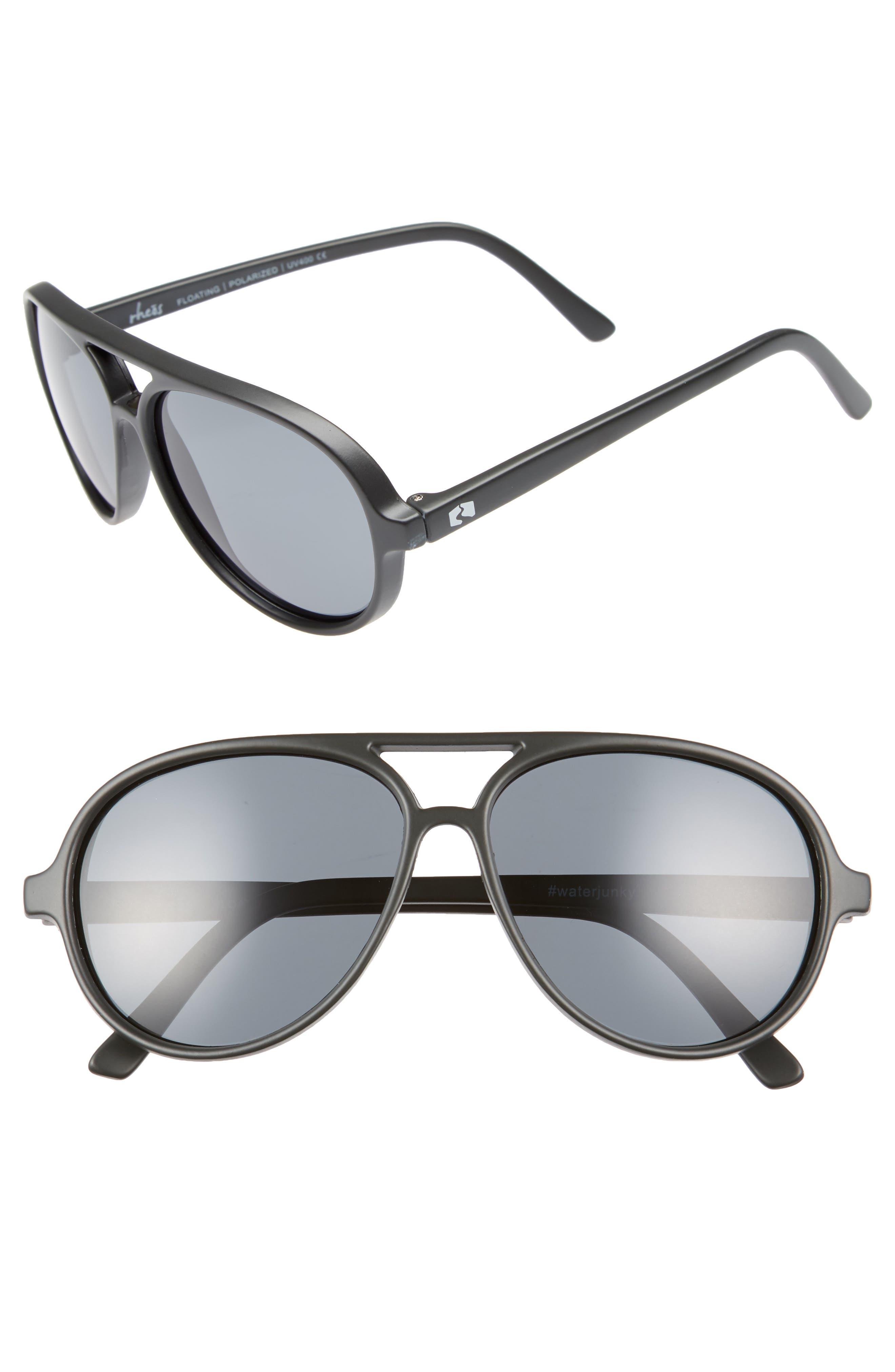Rheos Palmettos Floating 60mm Polarized Aviator Sunglasses