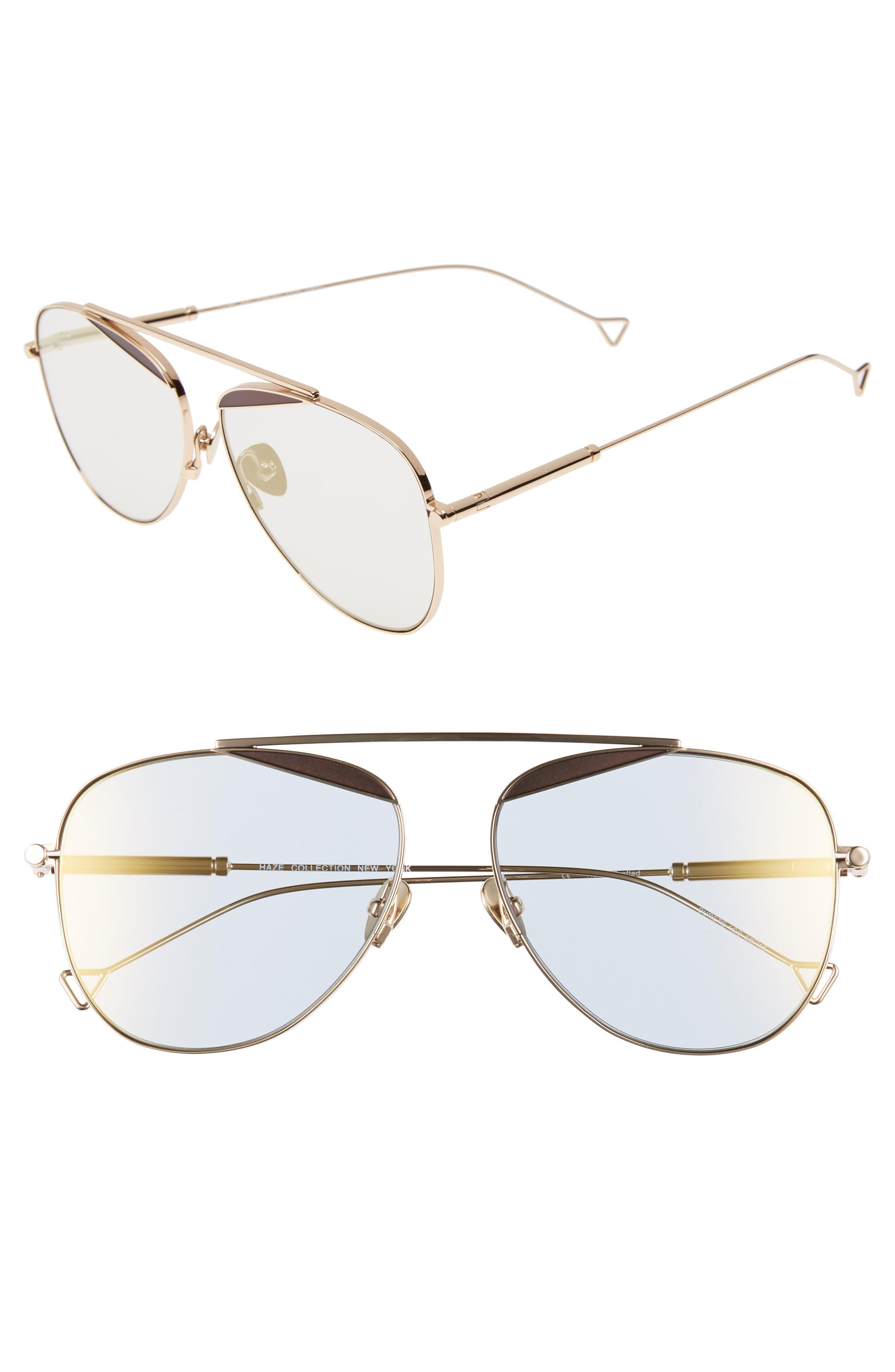 The Durete 58mm Aviator Sunglasses,                         Main,                         color, Golden