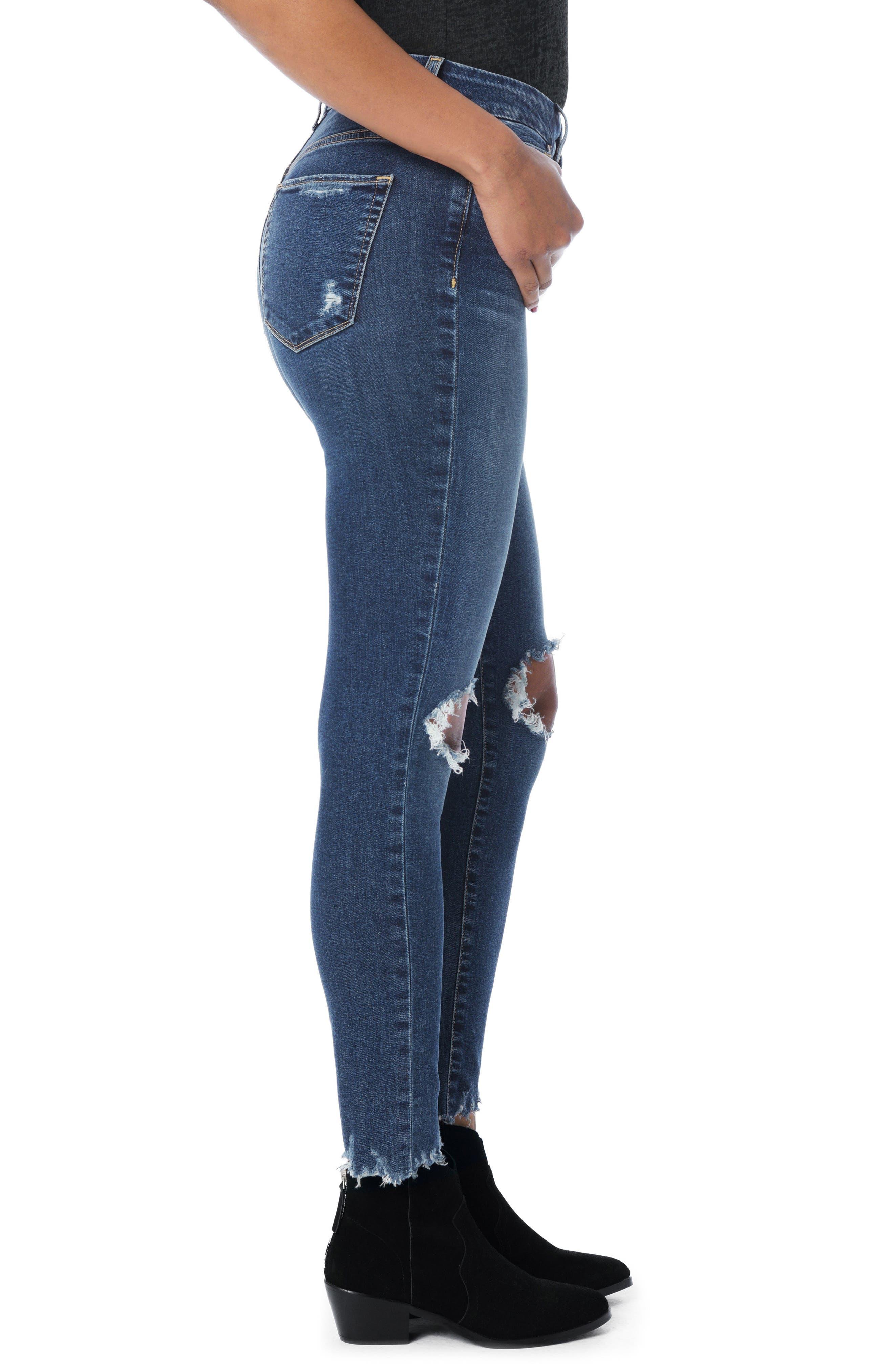 Honey Curvy High Waist Ankle Skinny Jeans,                             Alternate thumbnail 4, color,                             Rocky