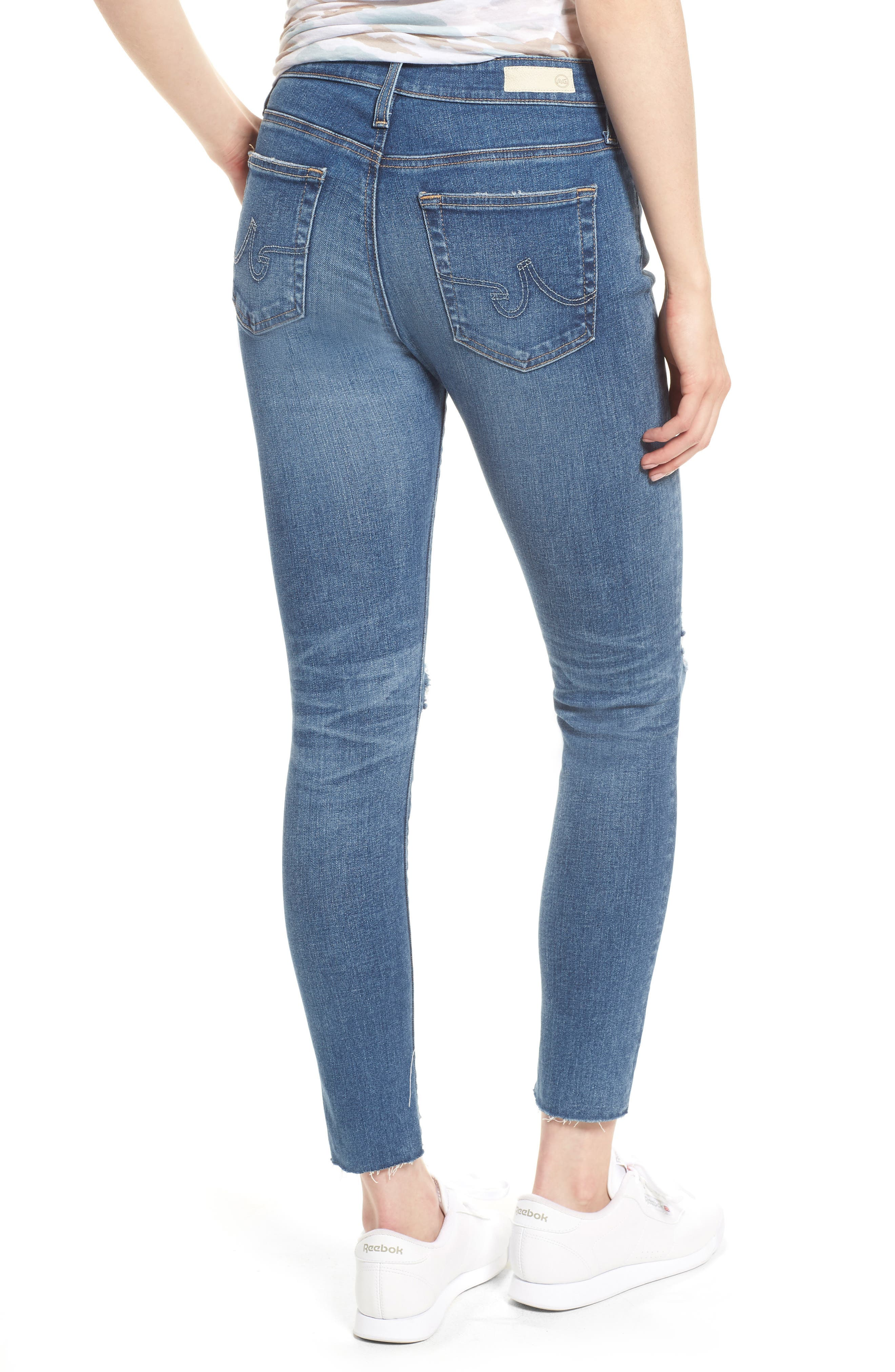 The Farrah High Waist Ankle Skinny Jeans,                             Alternate thumbnail 2, color,                             13 Year Saltwater