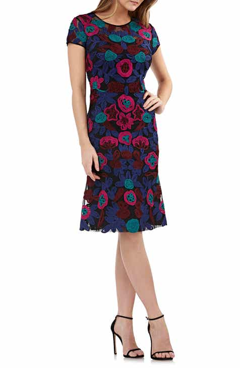 7573f9a40767 JS Collections Floral Soutache Cocktail Dress