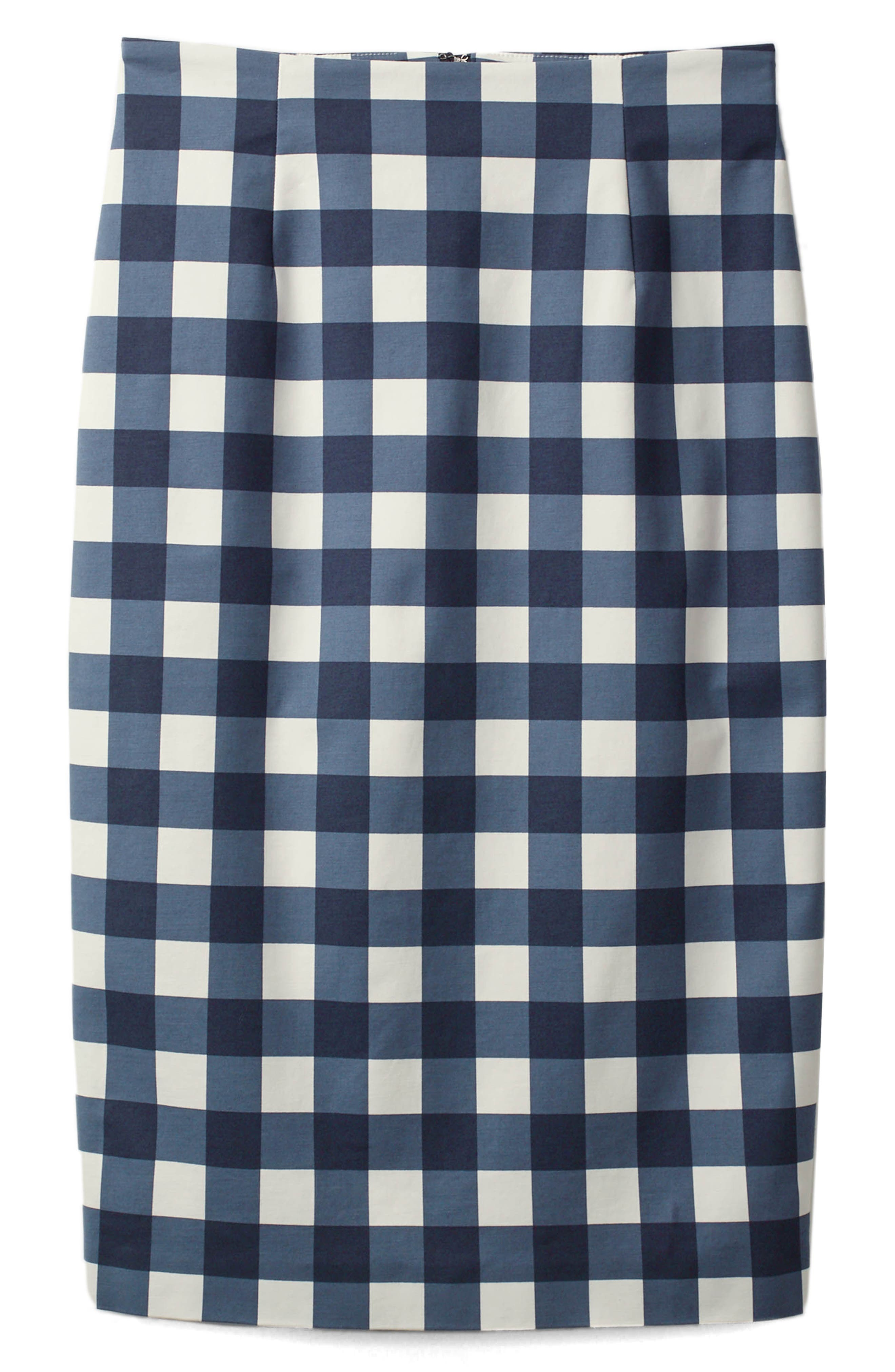 Richmond Print Skirt,                             Main thumbnail 1, color,                             Navy Gingham