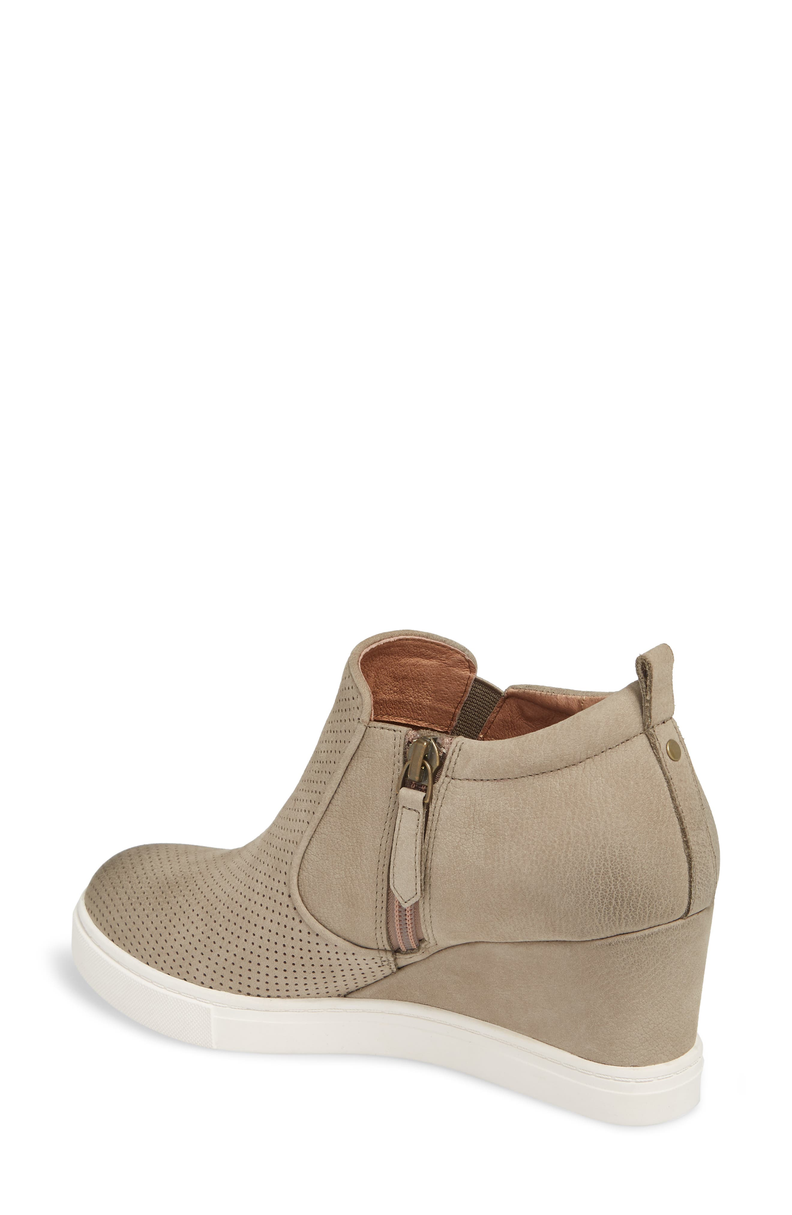 Aiden Wedge Sneaker,                             Alternate thumbnail 2, color,                             Taupe Perforated Leather