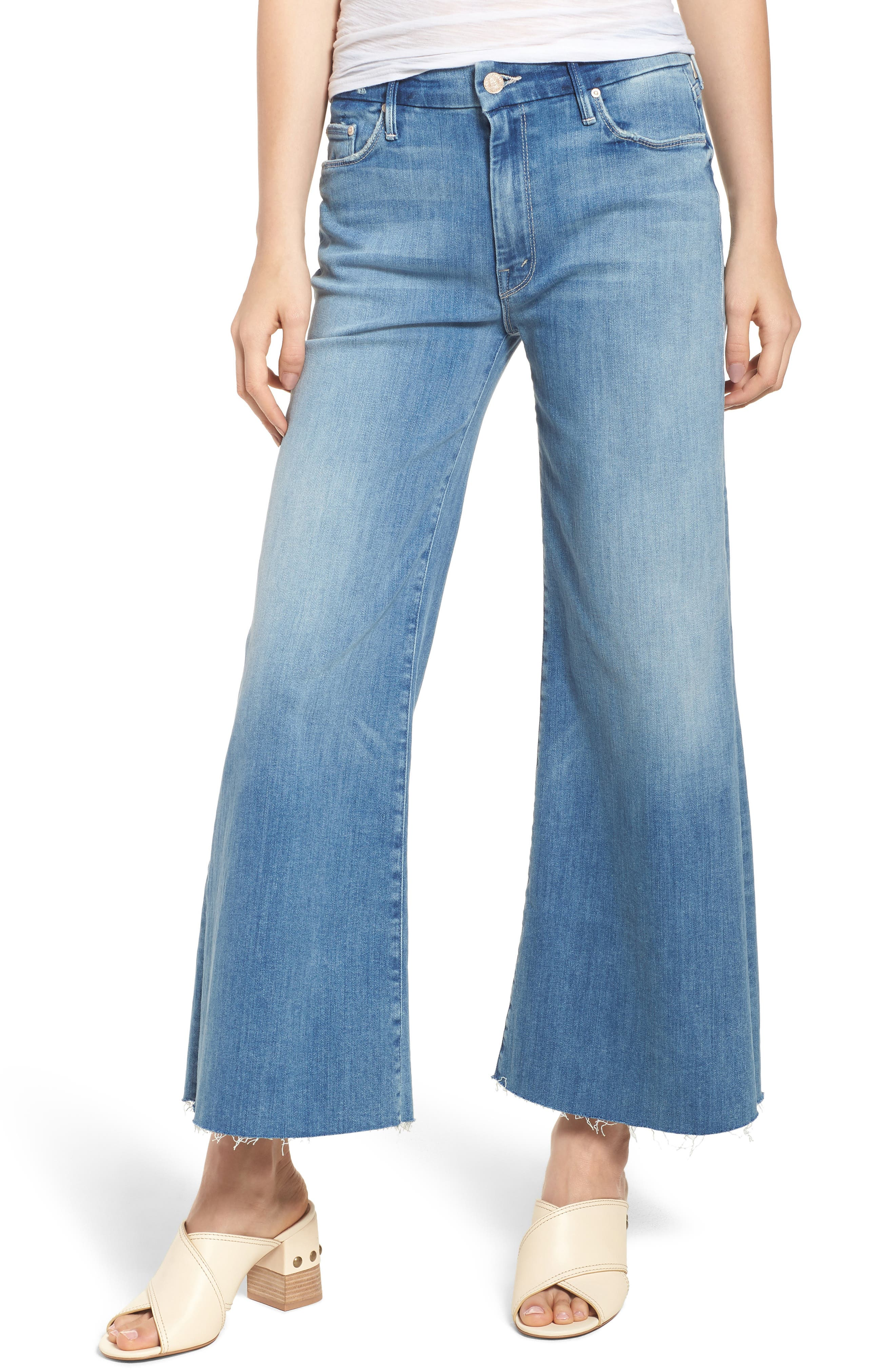 The Roller Crop Snippet Wide Leg Jeans,                             Main thumbnail 1, color,                             Well Played