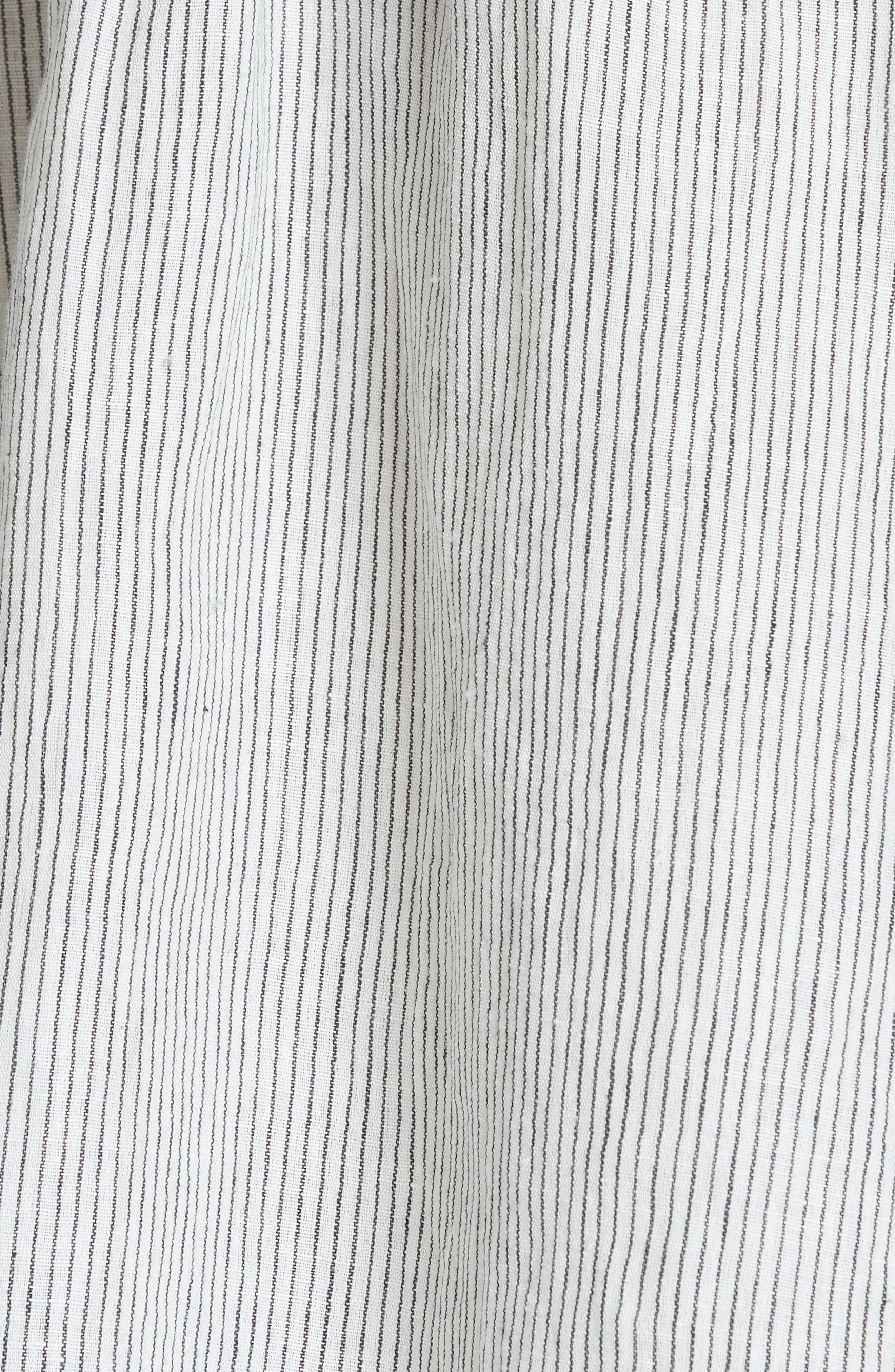 The Boutonniere Top,                             Alternate thumbnail 5, color,                             Black/ White Pinstripe