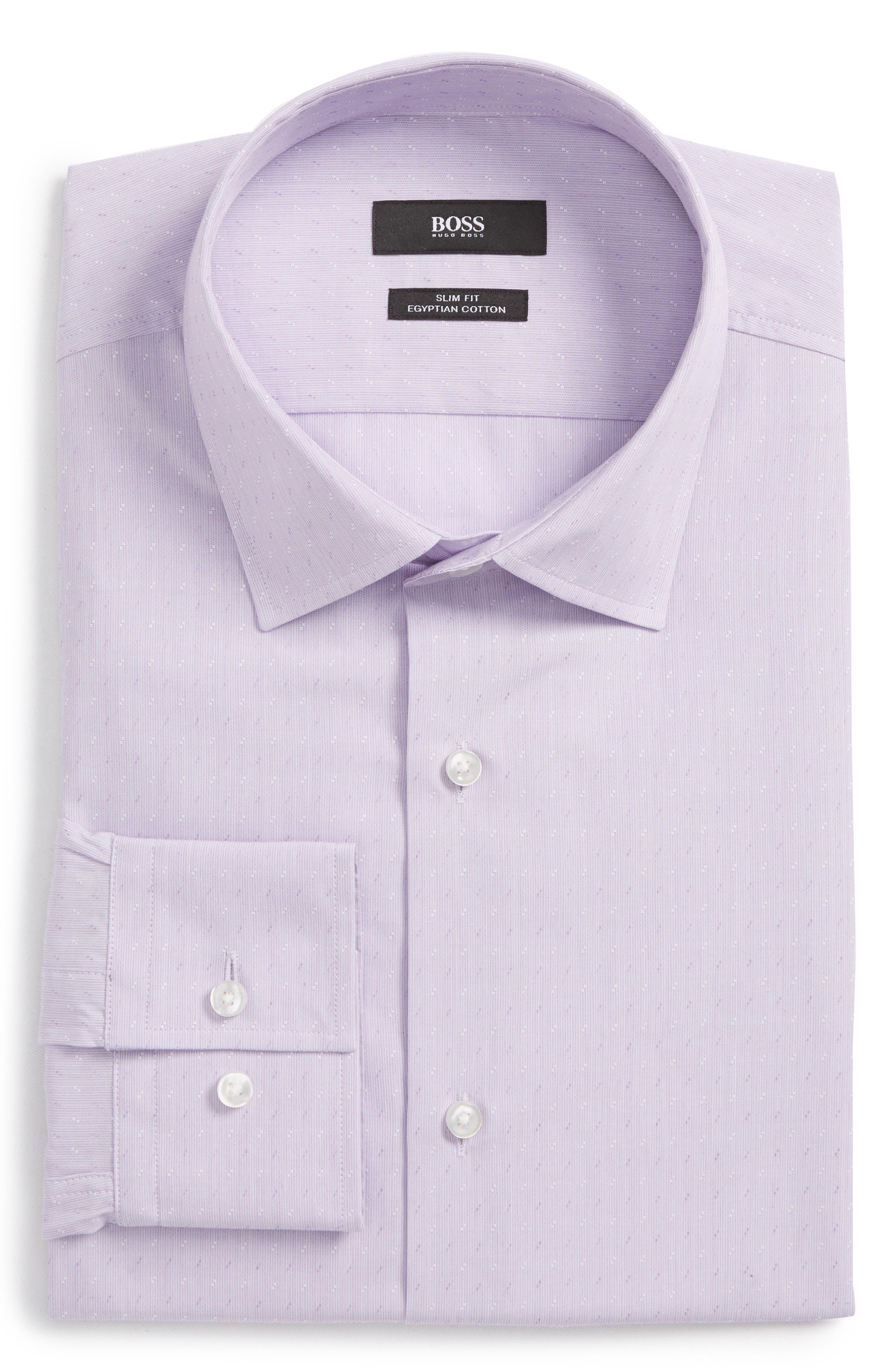 Jenno Slim Fit Dress Shirt,                             Main thumbnail 1, color,                             Light Purple
