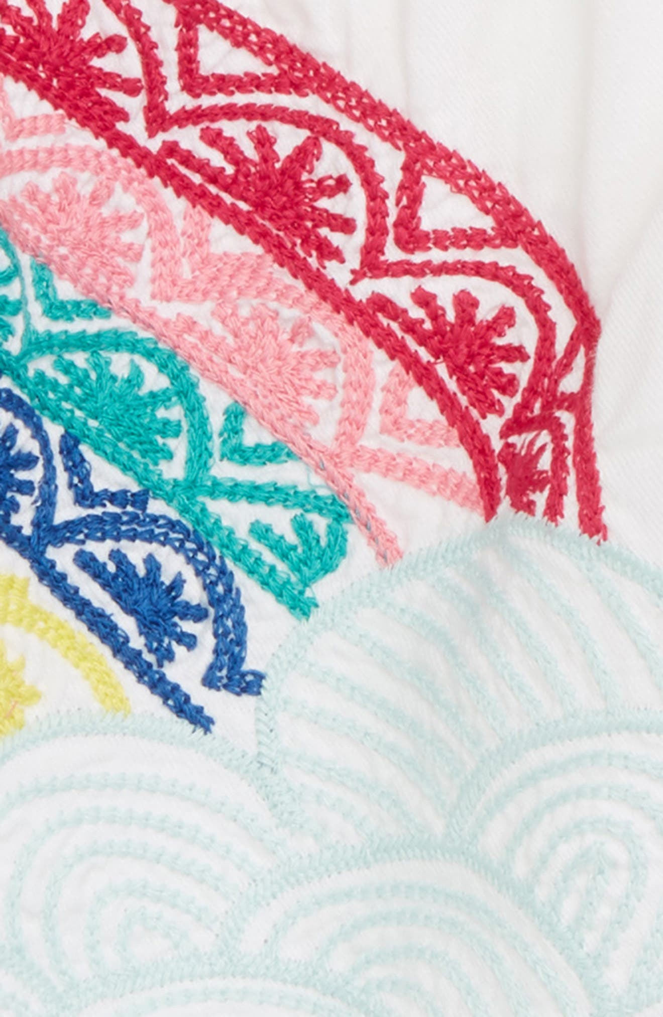 The Rainbow Embroidered Dress,                             Alternate thumbnail 2, color,                             Over The Rainbow