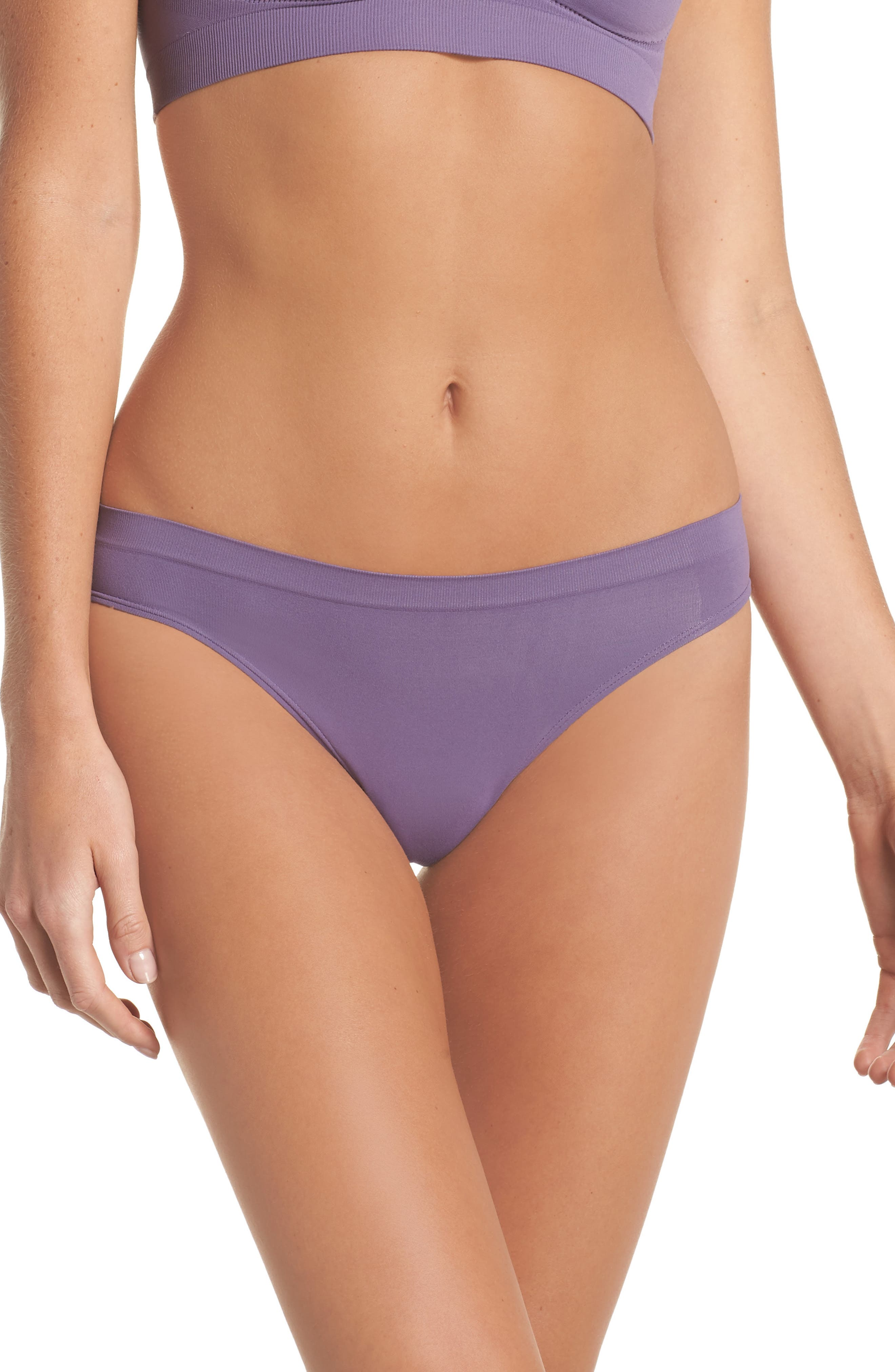 Seamless Bikini,                             Main thumbnail 1, color,                             Purple Mulled