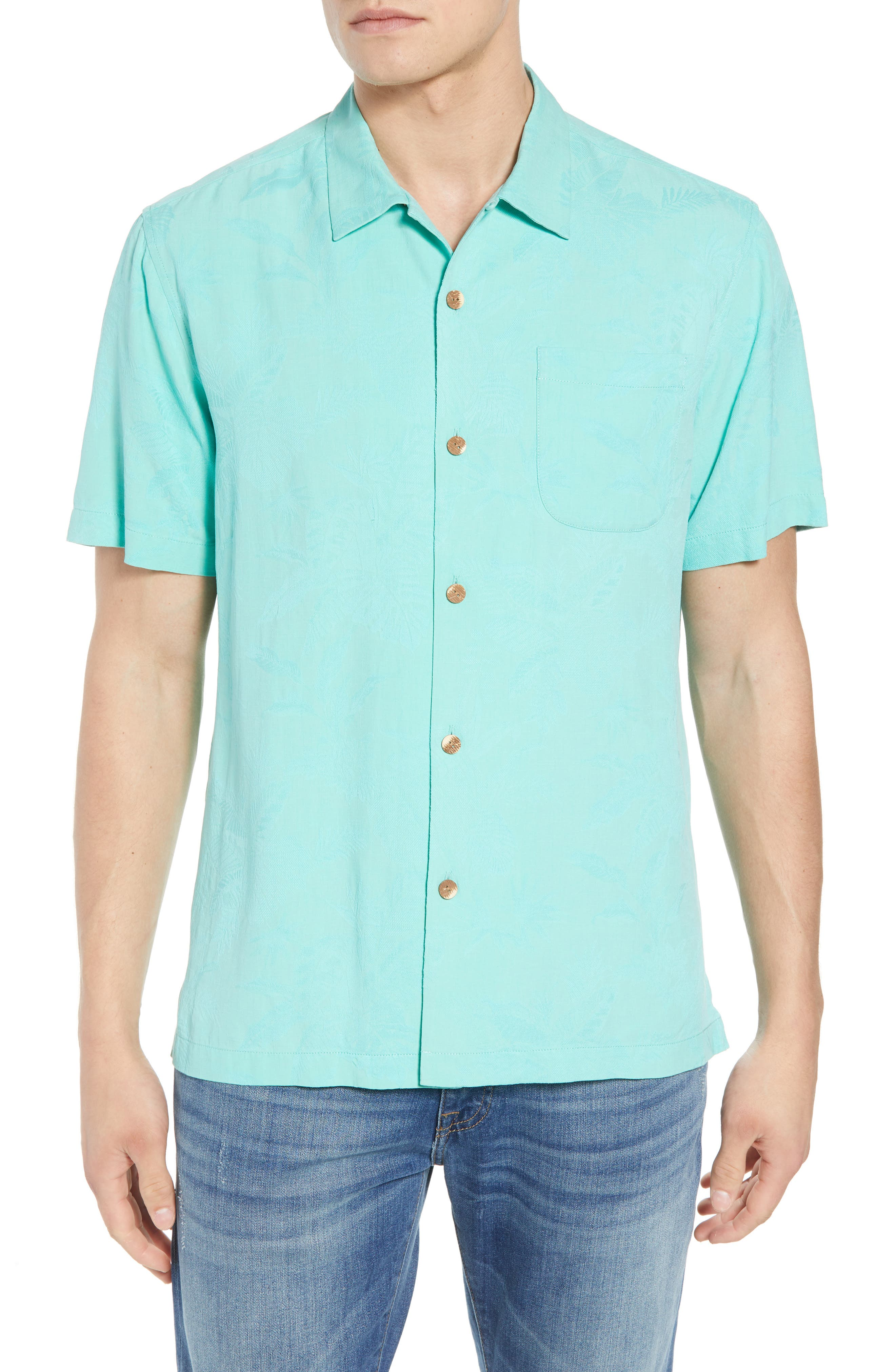 Tommy Bahama St Lucia Fronds Silk Camp Shirt