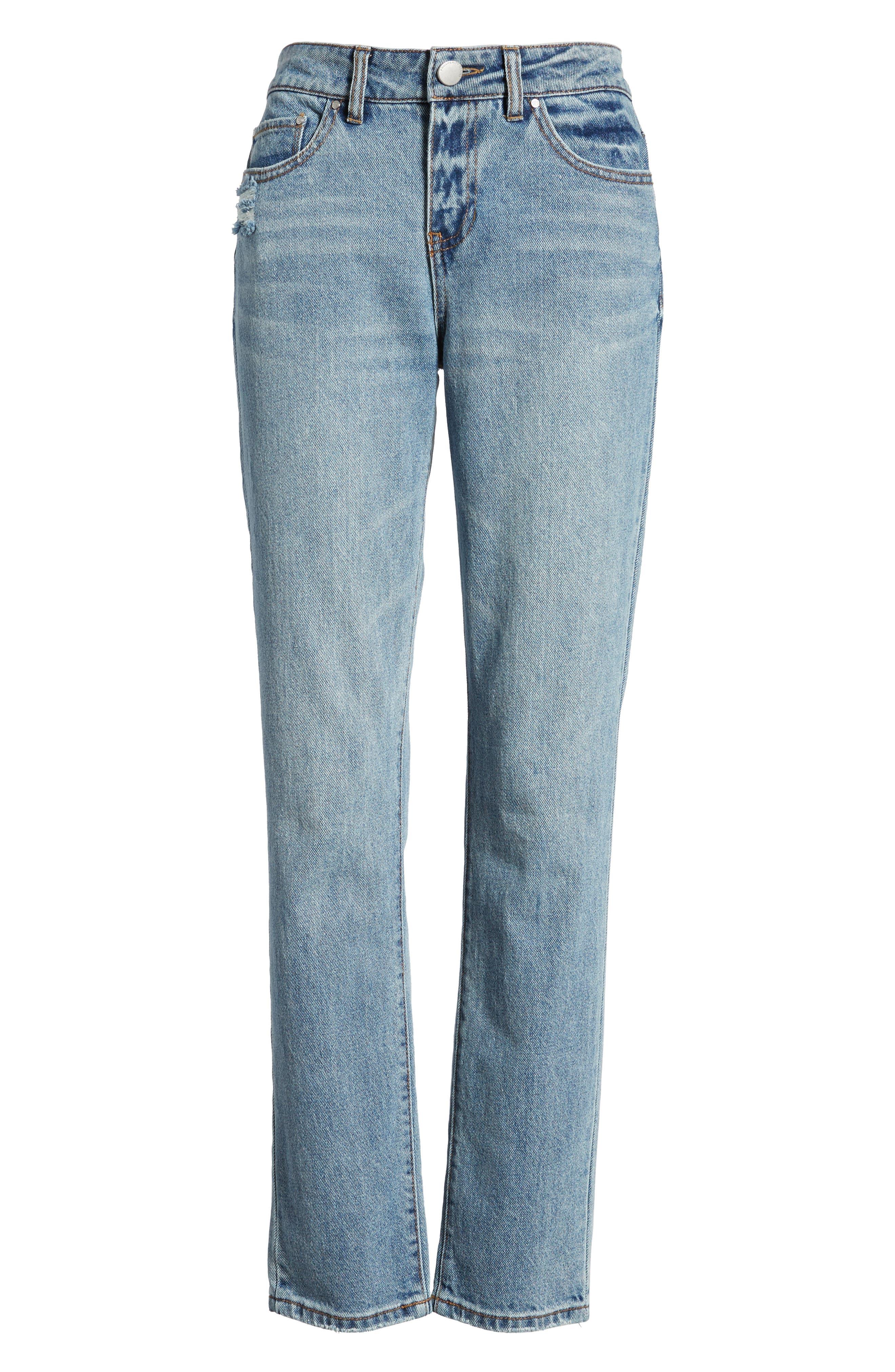 High Waist Skinny Jeans,                             Alternate thumbnail 7, color,                             Medium