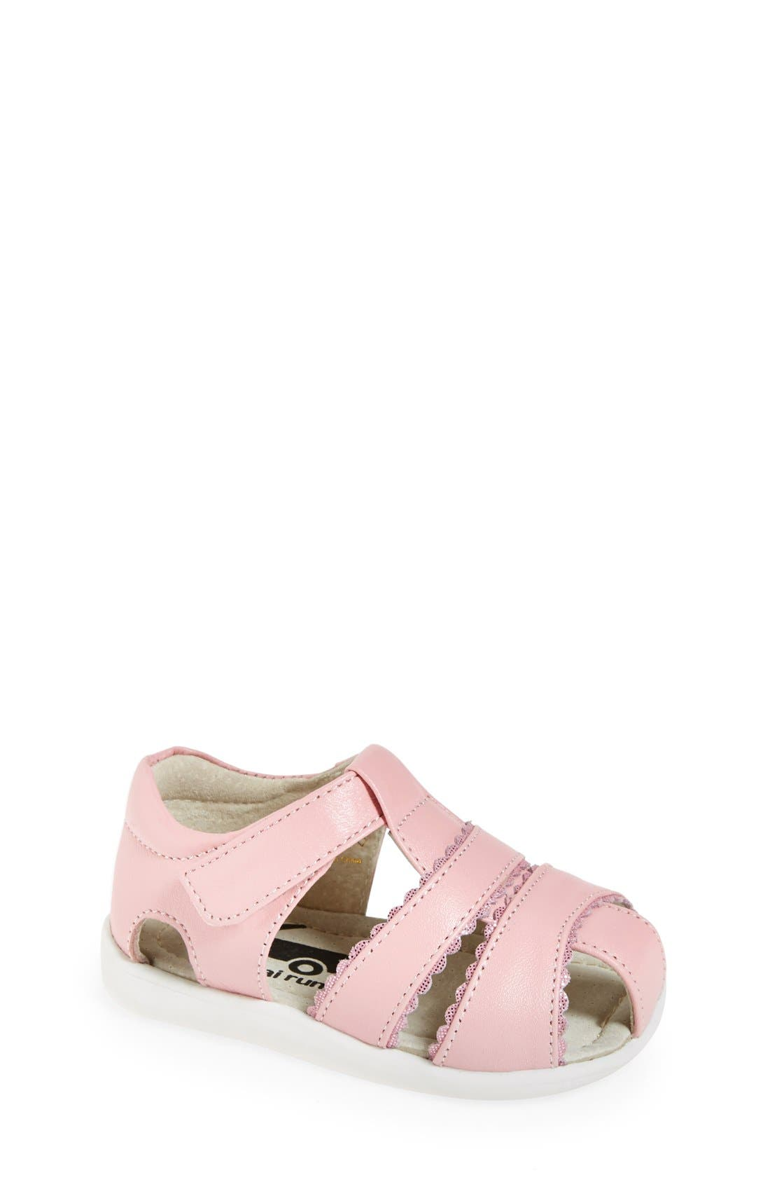Main Image - See Kai Run 'Gloria II' Leather Fisherman Sandal (Baby, Walker & Toddler)