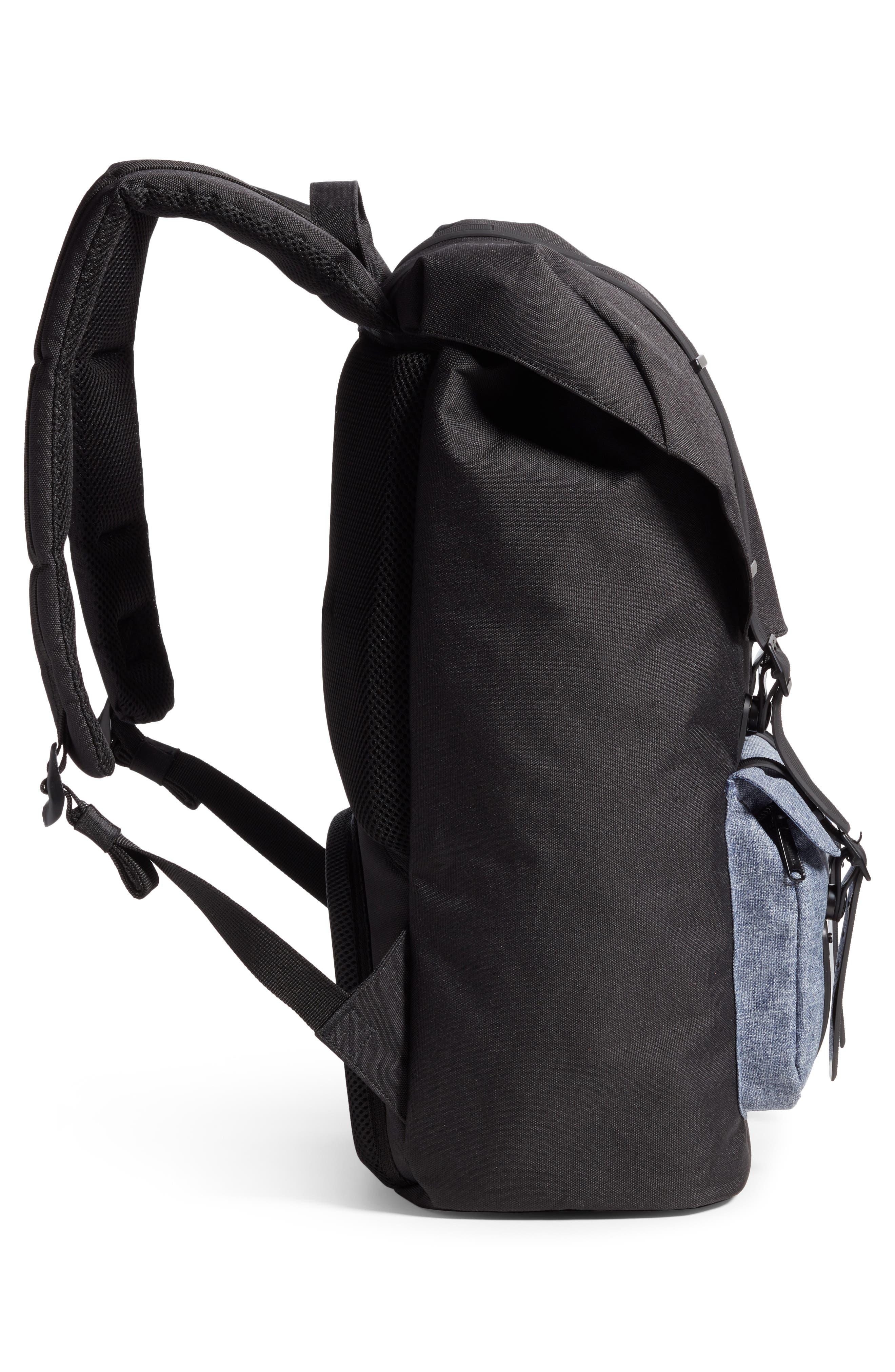 Little America - Chambray Backpack,                             Alternate thumbnail 5, color,                             Black/ Dark Chambray