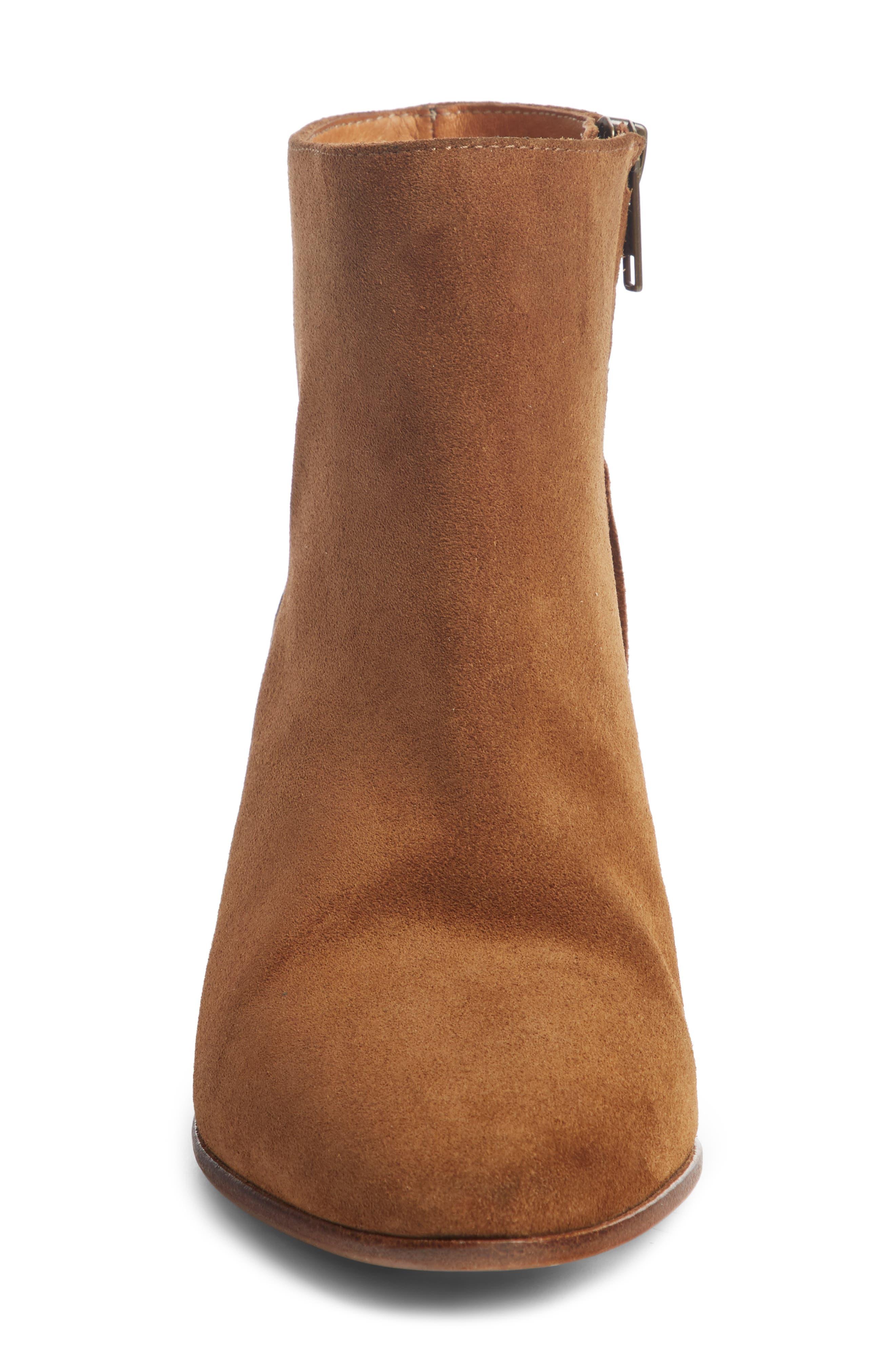 Dacken Stacked Heel Bootie,                             Alternate thumbnail 3, color,                             Cognac