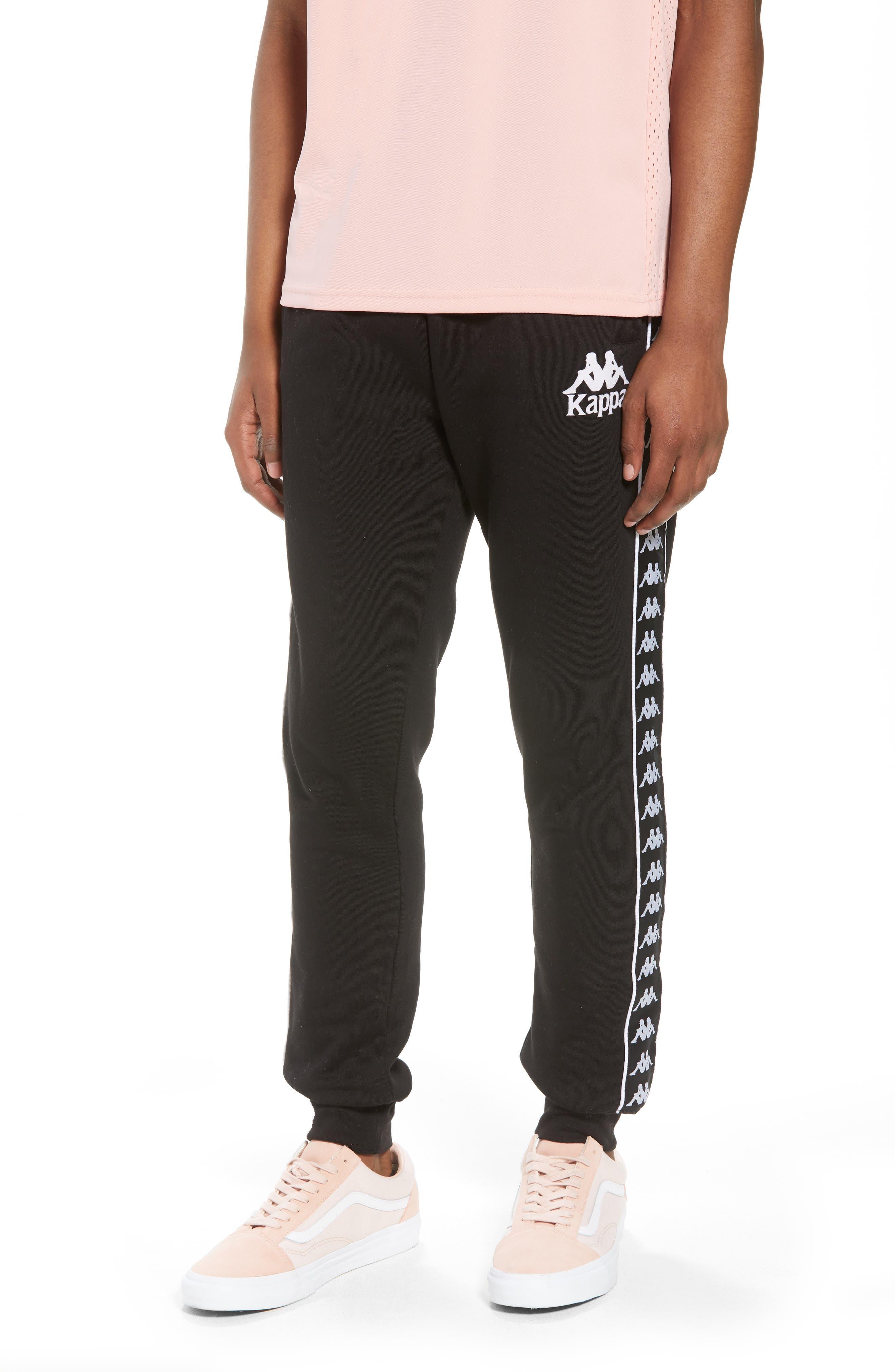 Banda Fleece Pants,                         Main,                         color, Black