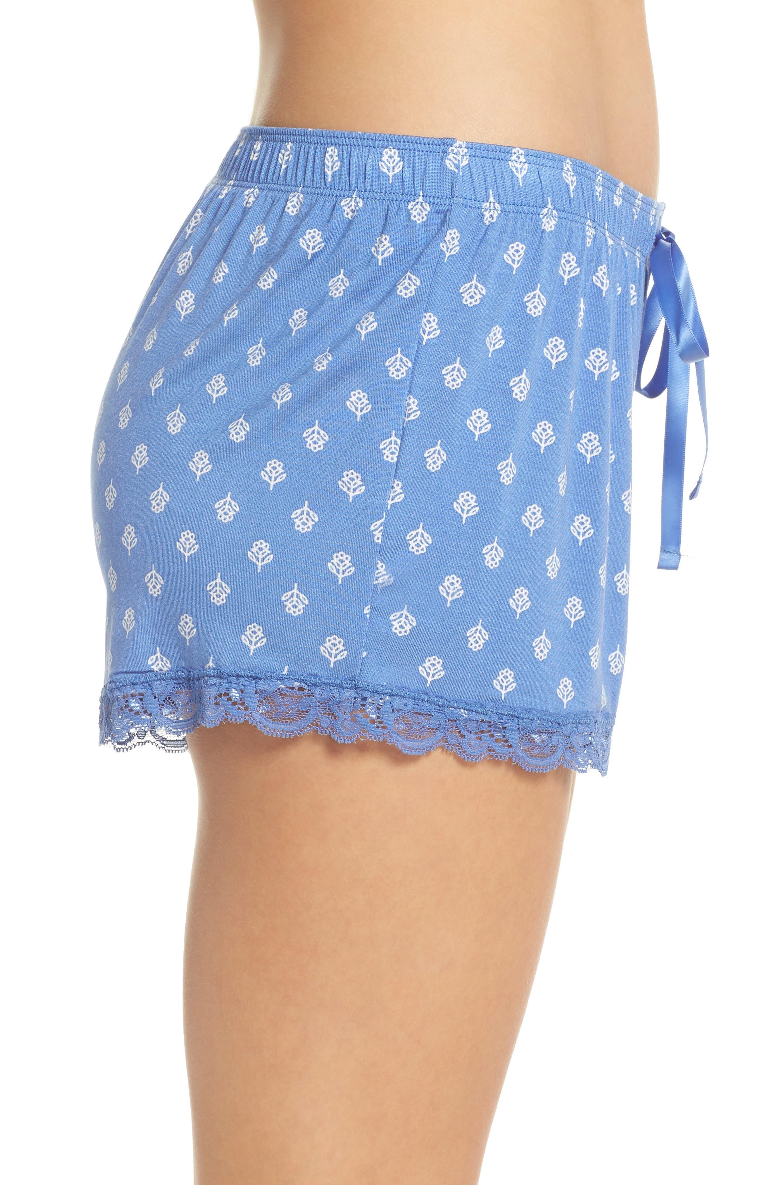 Pajama Shorts,                             Alternate thumbnail 3, color,                             Blue