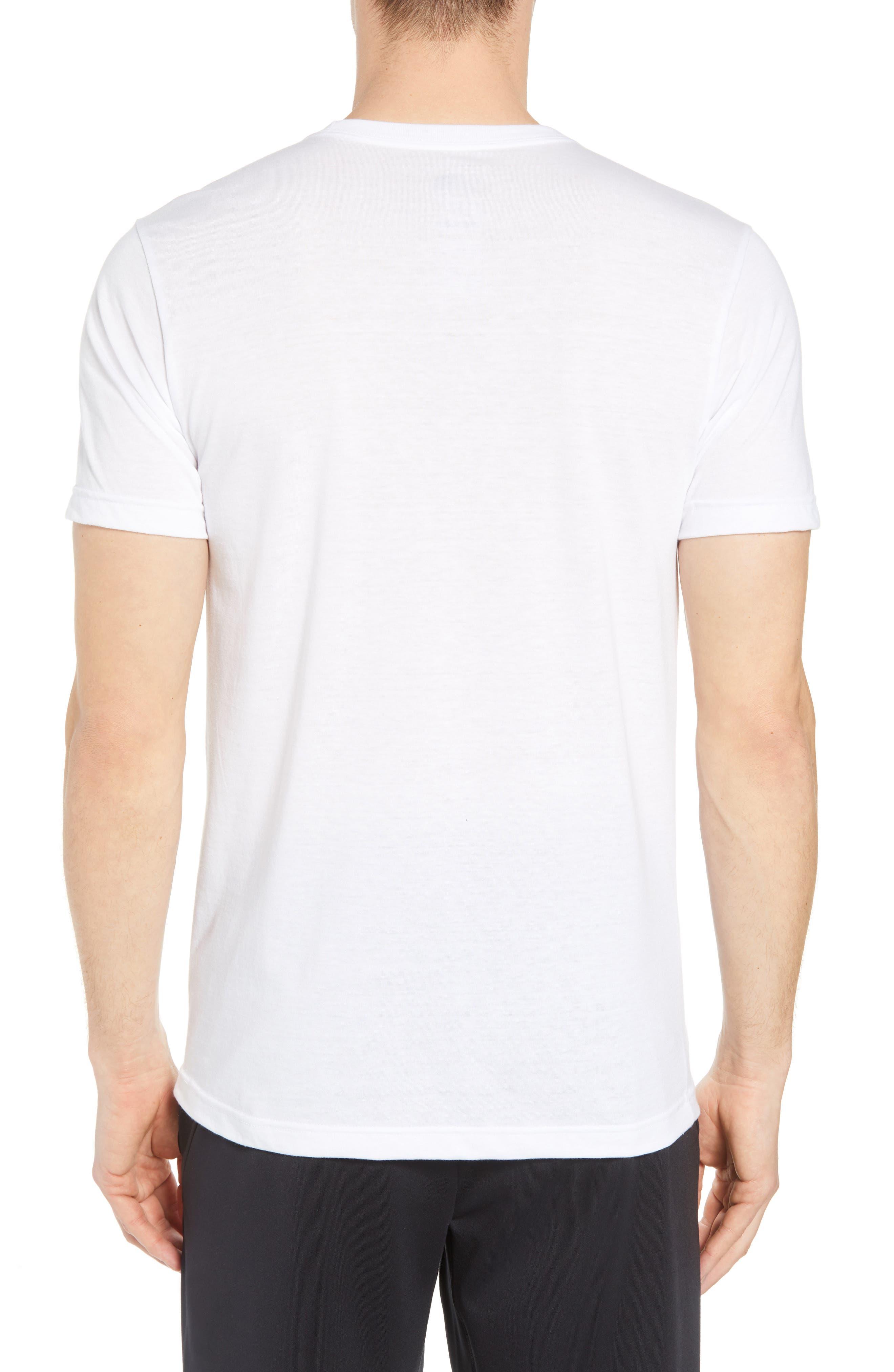 Americana Crewneck T-Shirt,                             Alternate thumbnail 2, color,                             Tnf White Heather