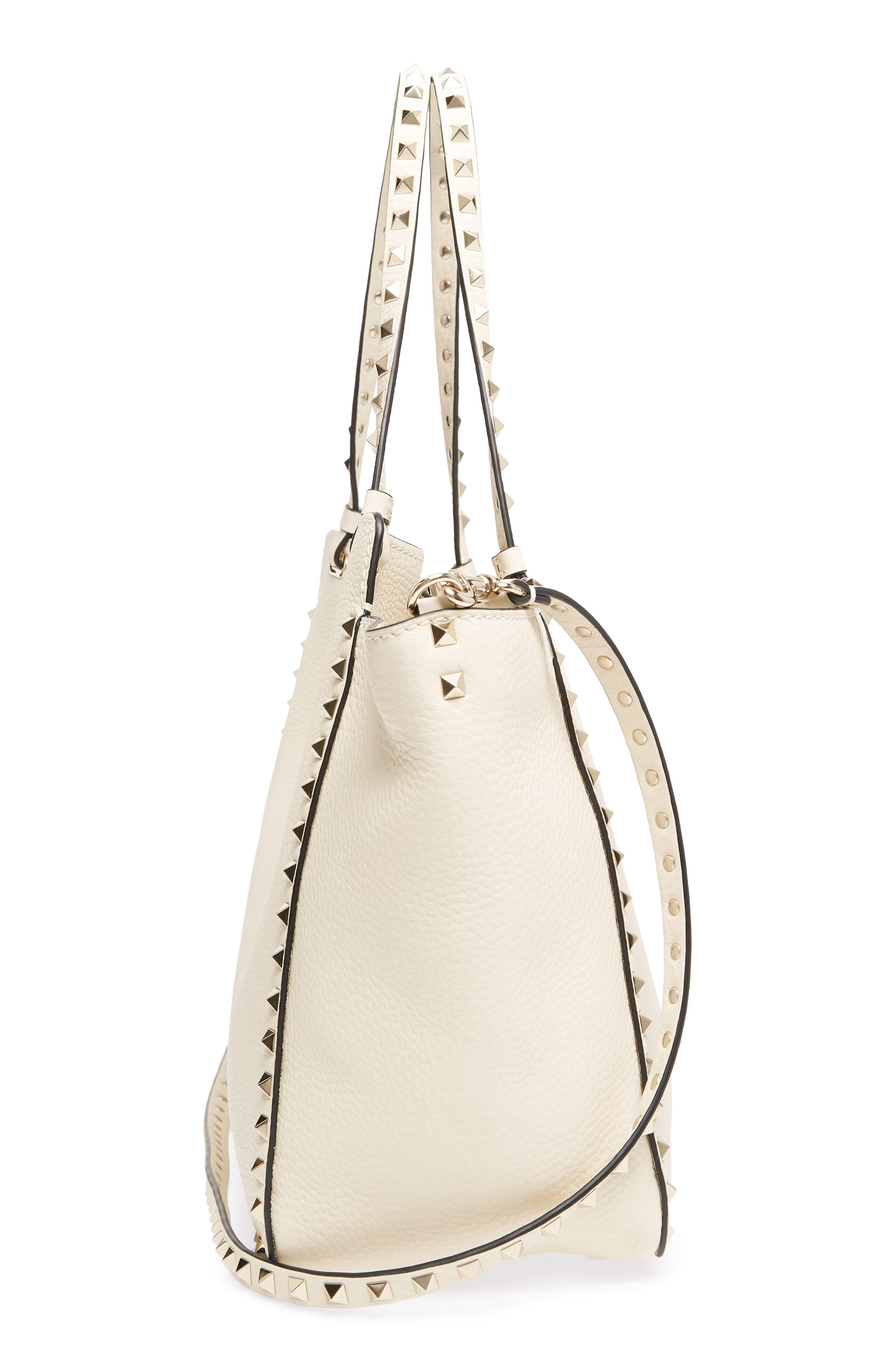 Alternate Image 5  - VALENTINO GARAVANI Medium Rockstud Leather Double Handle Tote