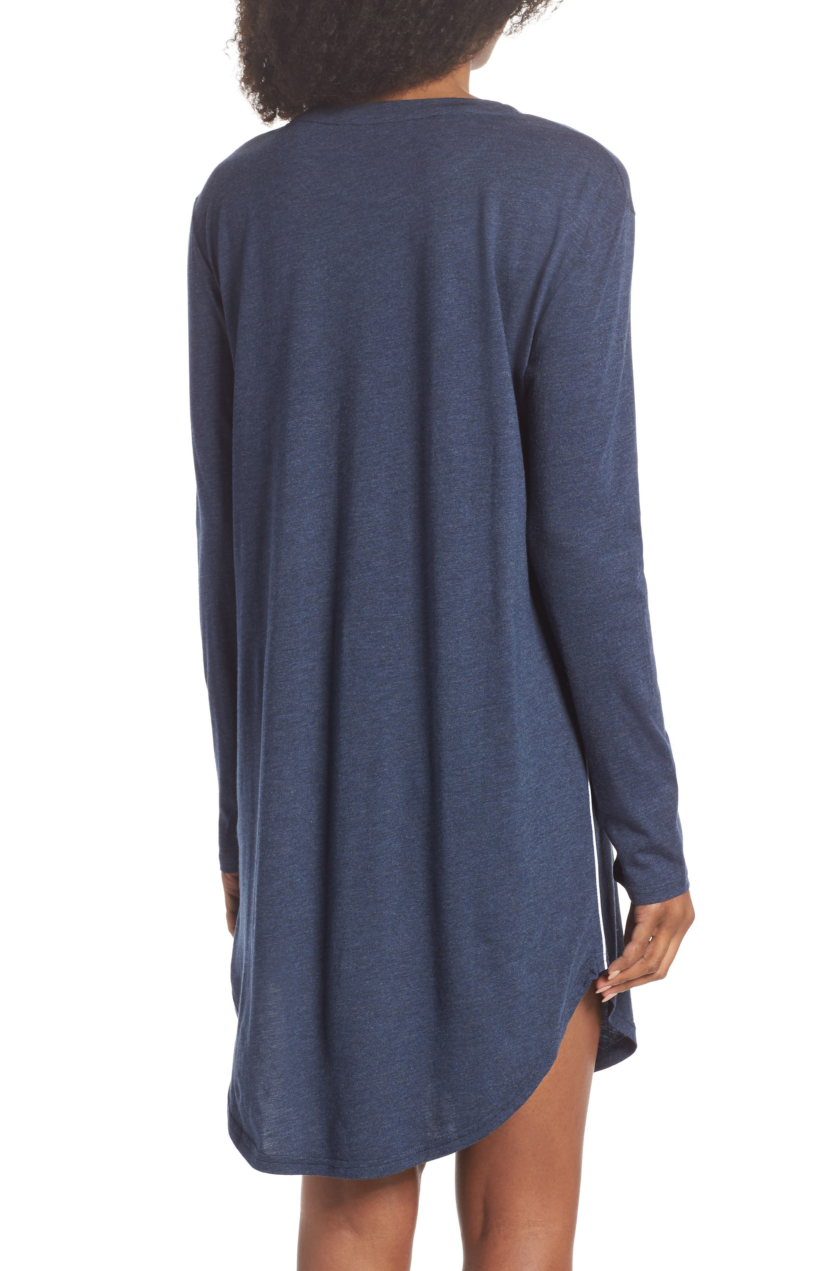 Midnight Marl Nightgown,                             Alternate thumbnail 2, color,                             Midnight Marle