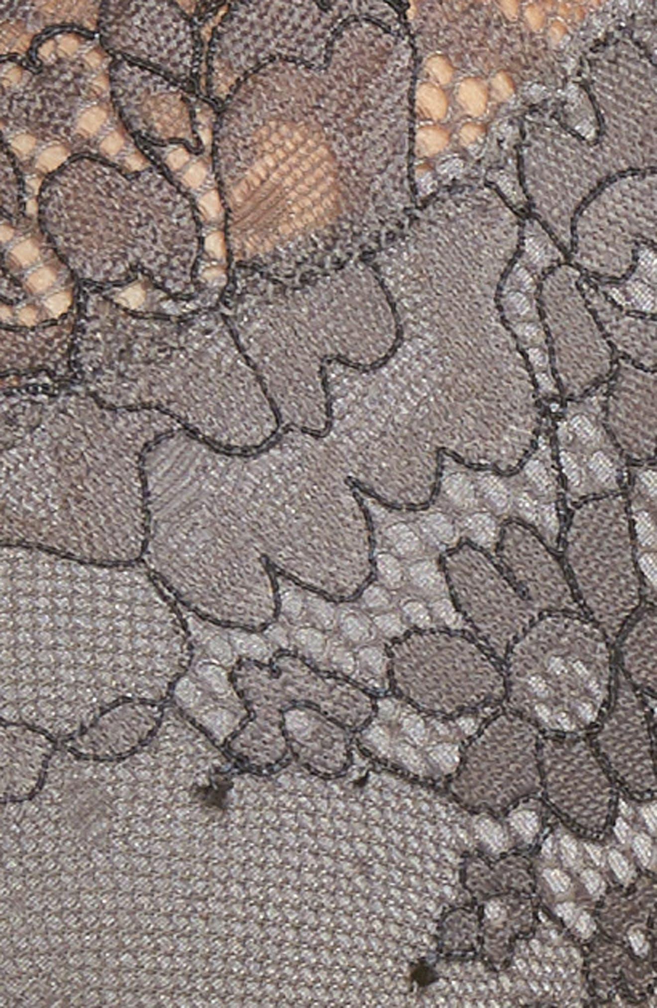Constellation Lace Bralette,                             Alternate thumbnail 4, color,                             Steel