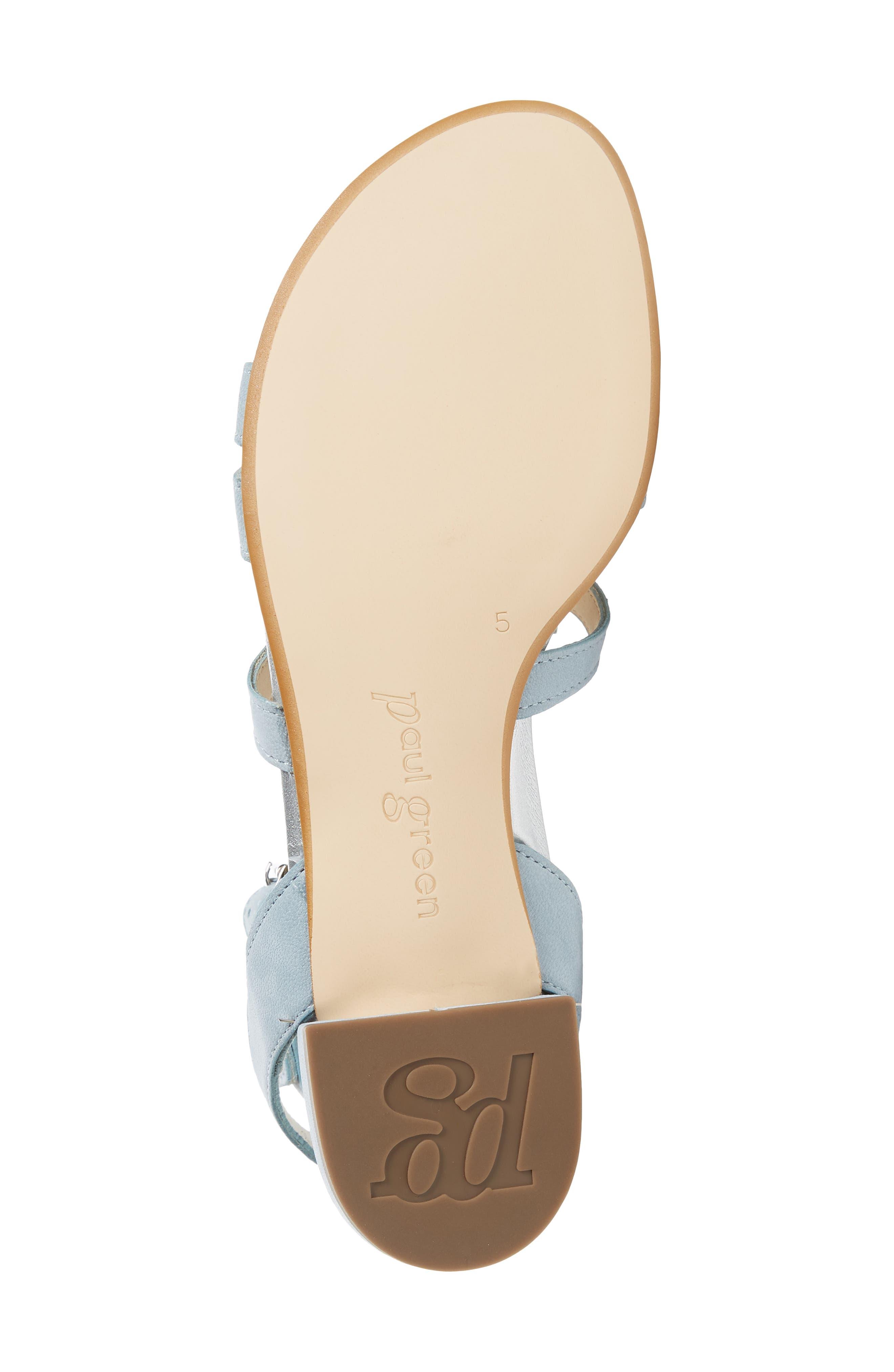 Norien Embellished Flower Sandal,                             Alternate thumbnail 6, color,                             Lago Brushed Leather