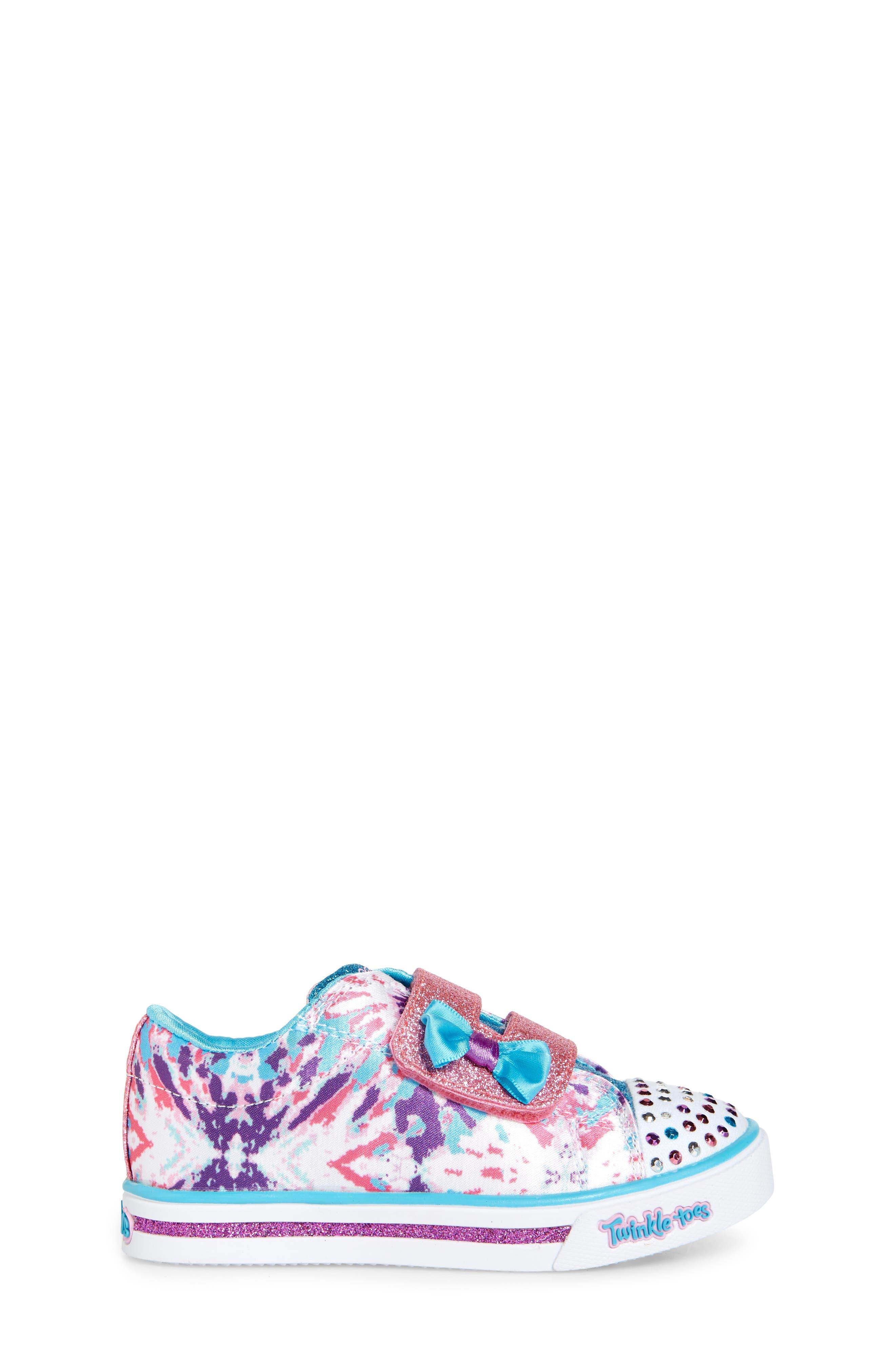 Sparkle Glitz Lil Dazzle Sneaker,                             Alternate thumbnail 3, color,                             White/ Multi