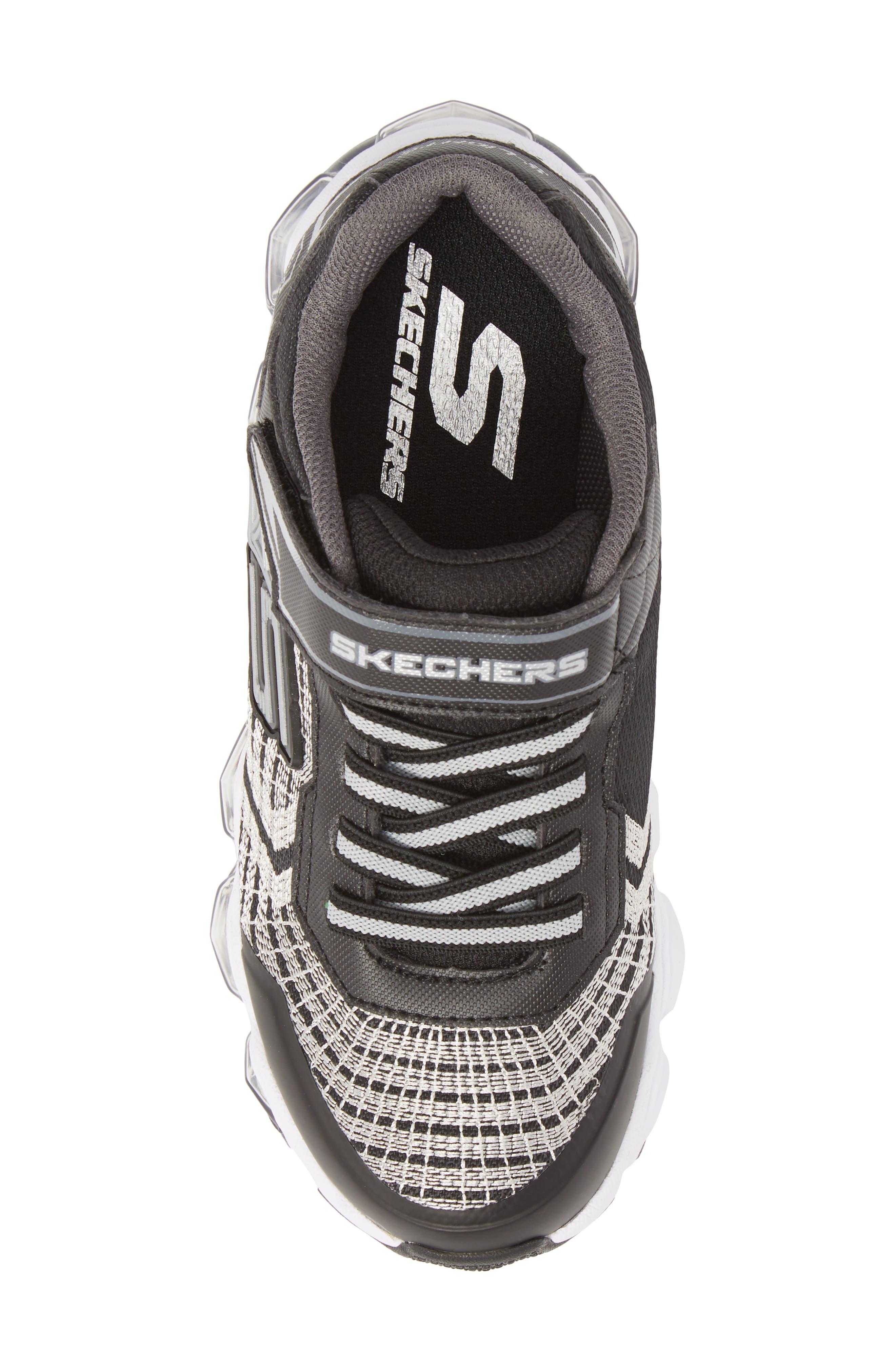 Energy Lights Sneaker,                             Alternate thumbnail 5, color,                             Black/ Silver