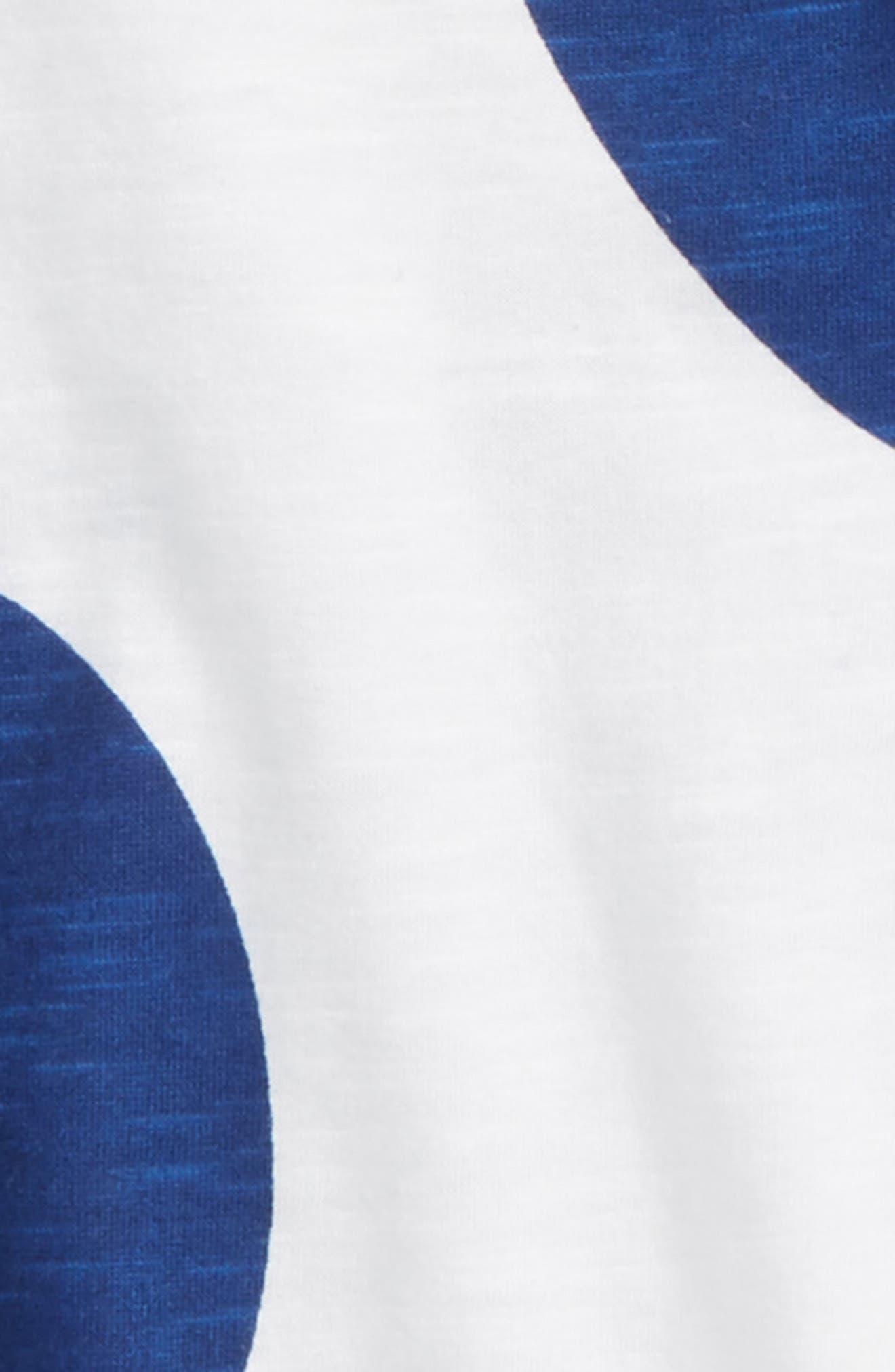 Print T-Shirt,                             Alternate thumbnail 2, color,                             White- Blue Dots